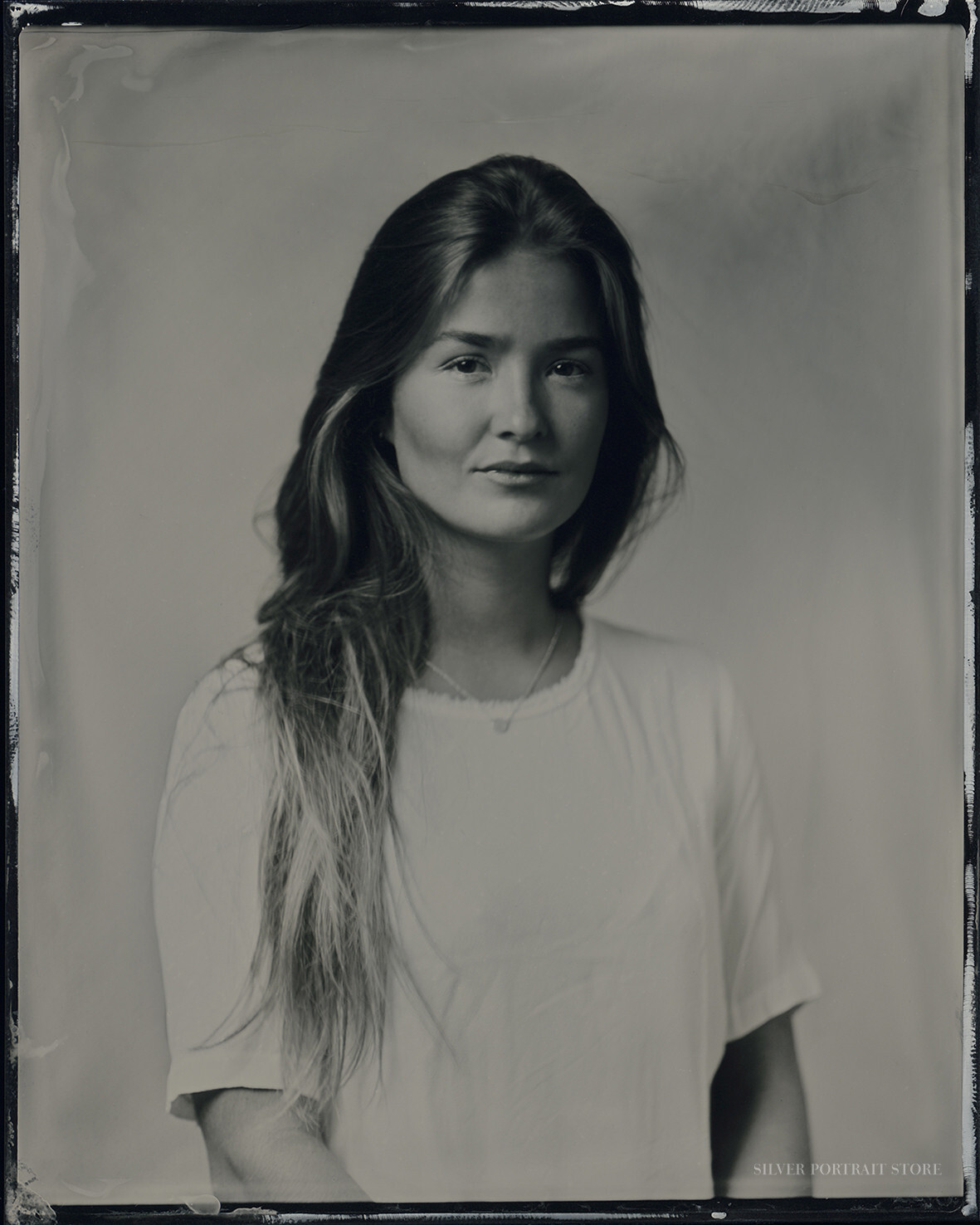 Maria-Silver Portrait Store-Scan from Wet plate collodion-Tintype 10 x 12 cm.