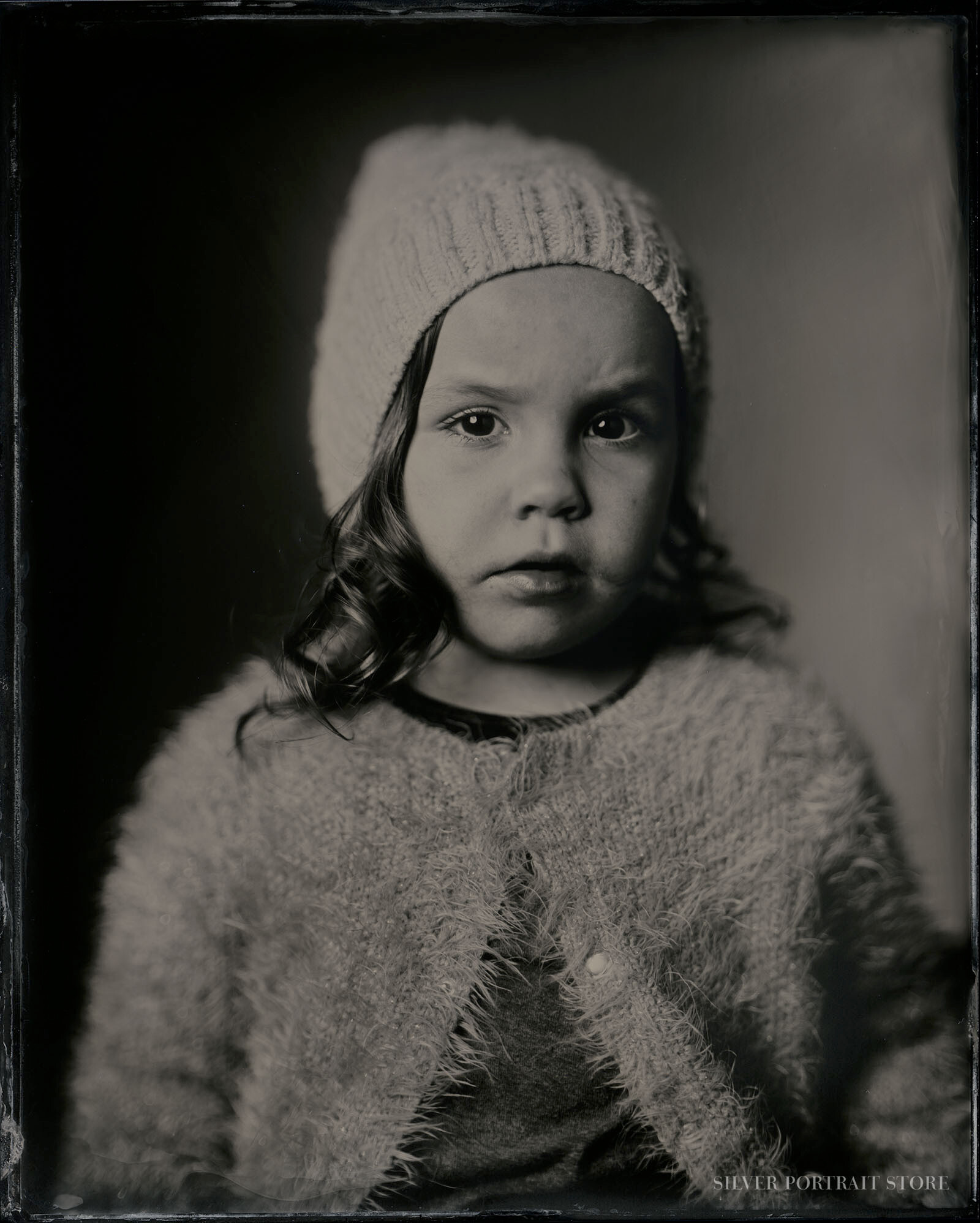 Leah-Silver Portrait Store-Scan from Wet plate collodion-Tintype 20 x 25 cm