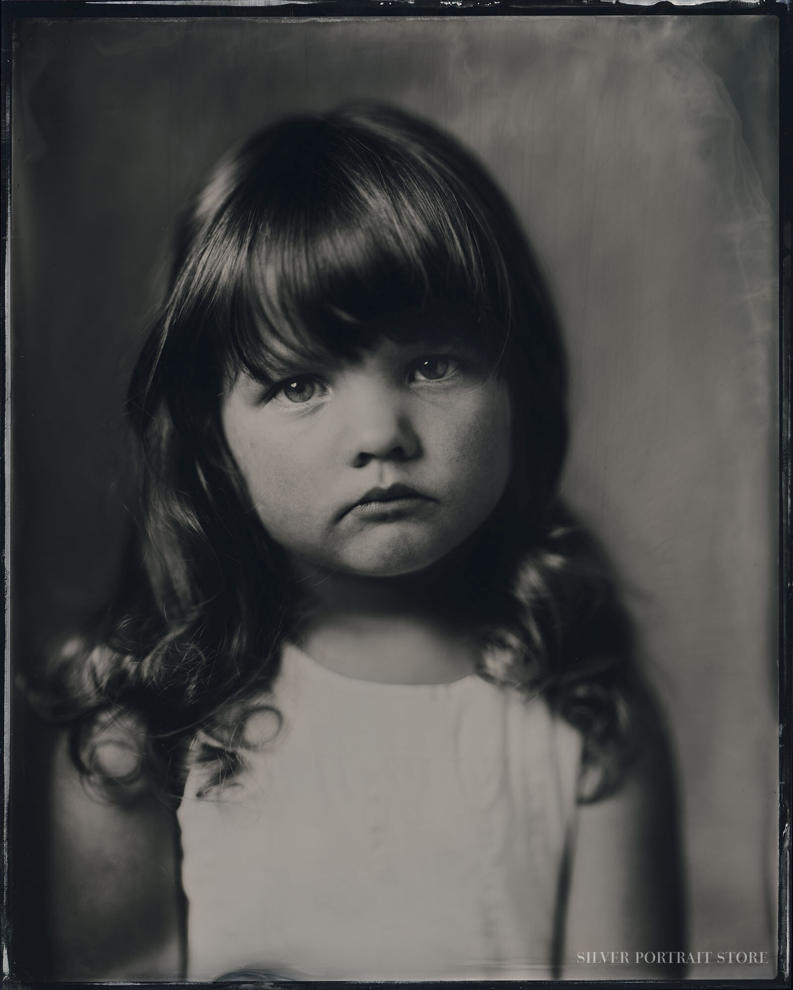 Bobbi-Silver Portrait Store-Scan from Wet plate collodion-Tintype 20 x 25 cm