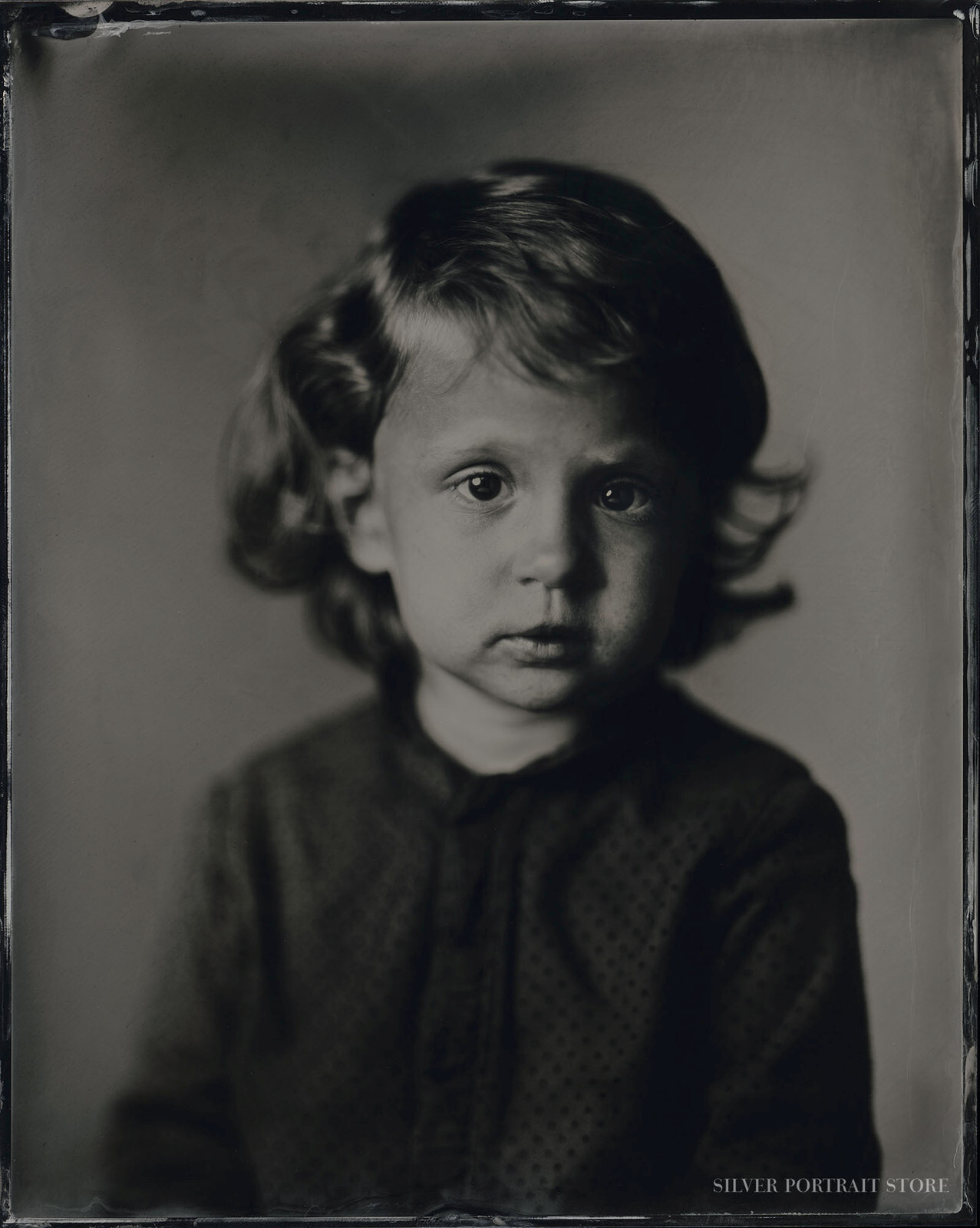 Eléa-Silver Portrait Store-Scan from Wet plate collodion-Tintype 20 x 25 cm.