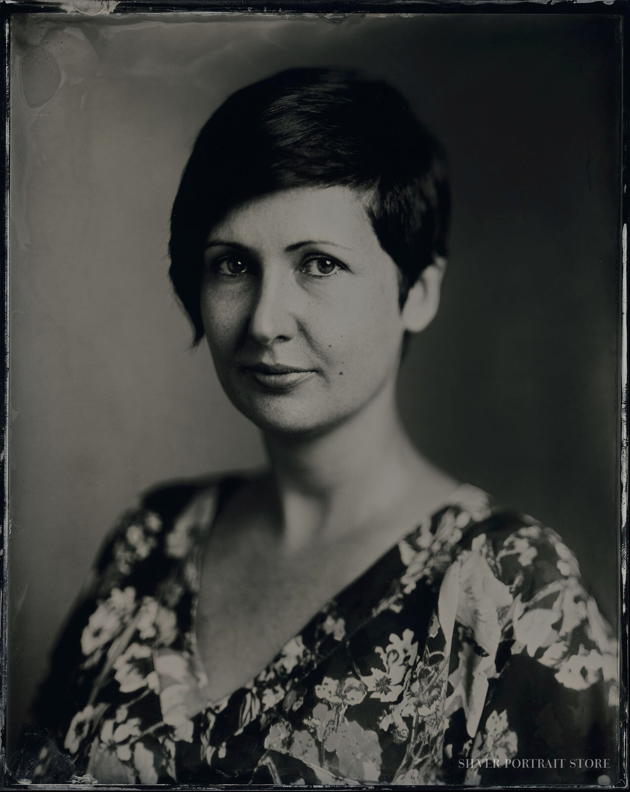 Sophi-Silver Portrait Store-Scan from Wet plate collodion-Tintype 20 x 25 cm