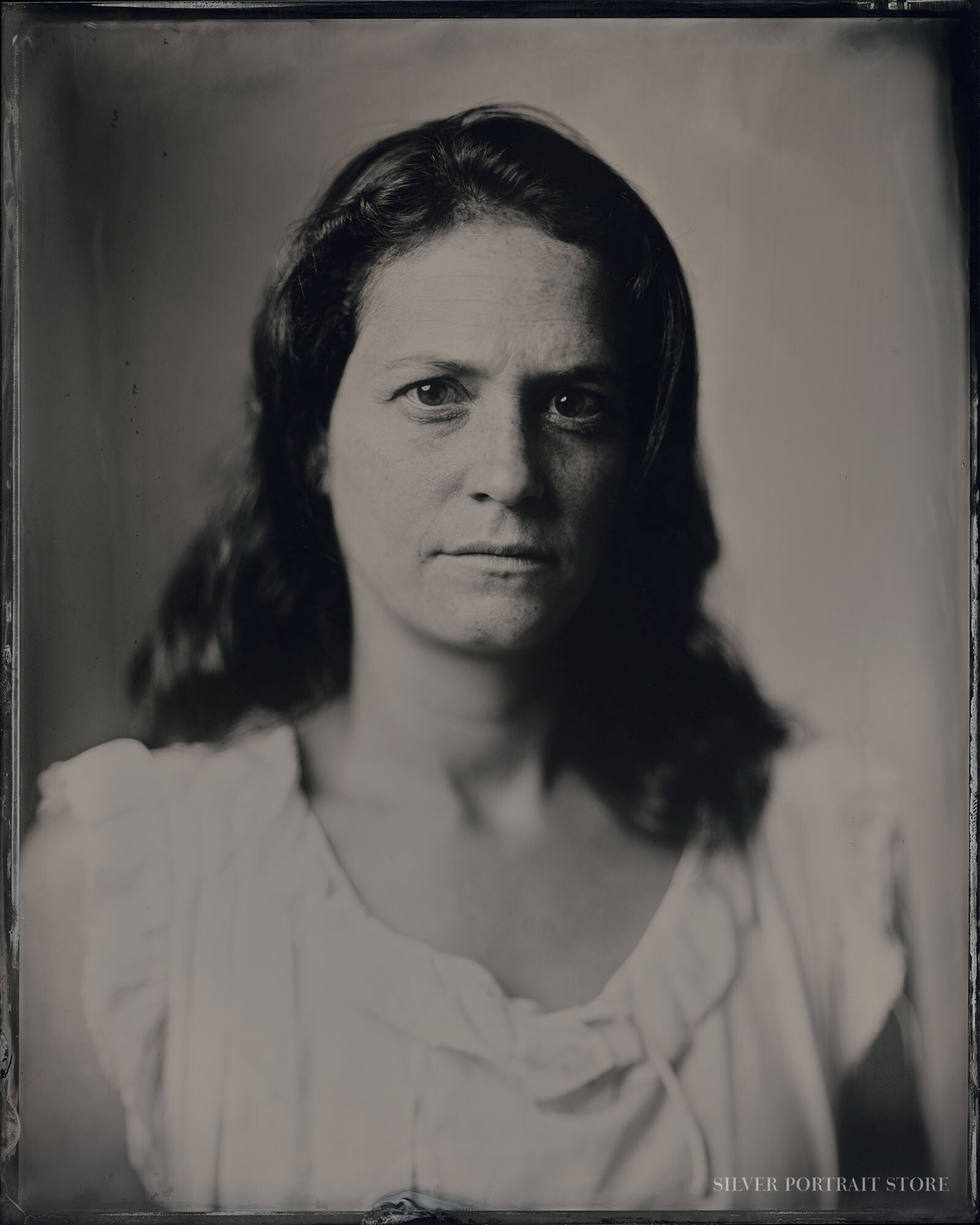 Eliza-Silver Portrait Store-Scan from Wet plate collodion-Tintype 20 x 25 cm.