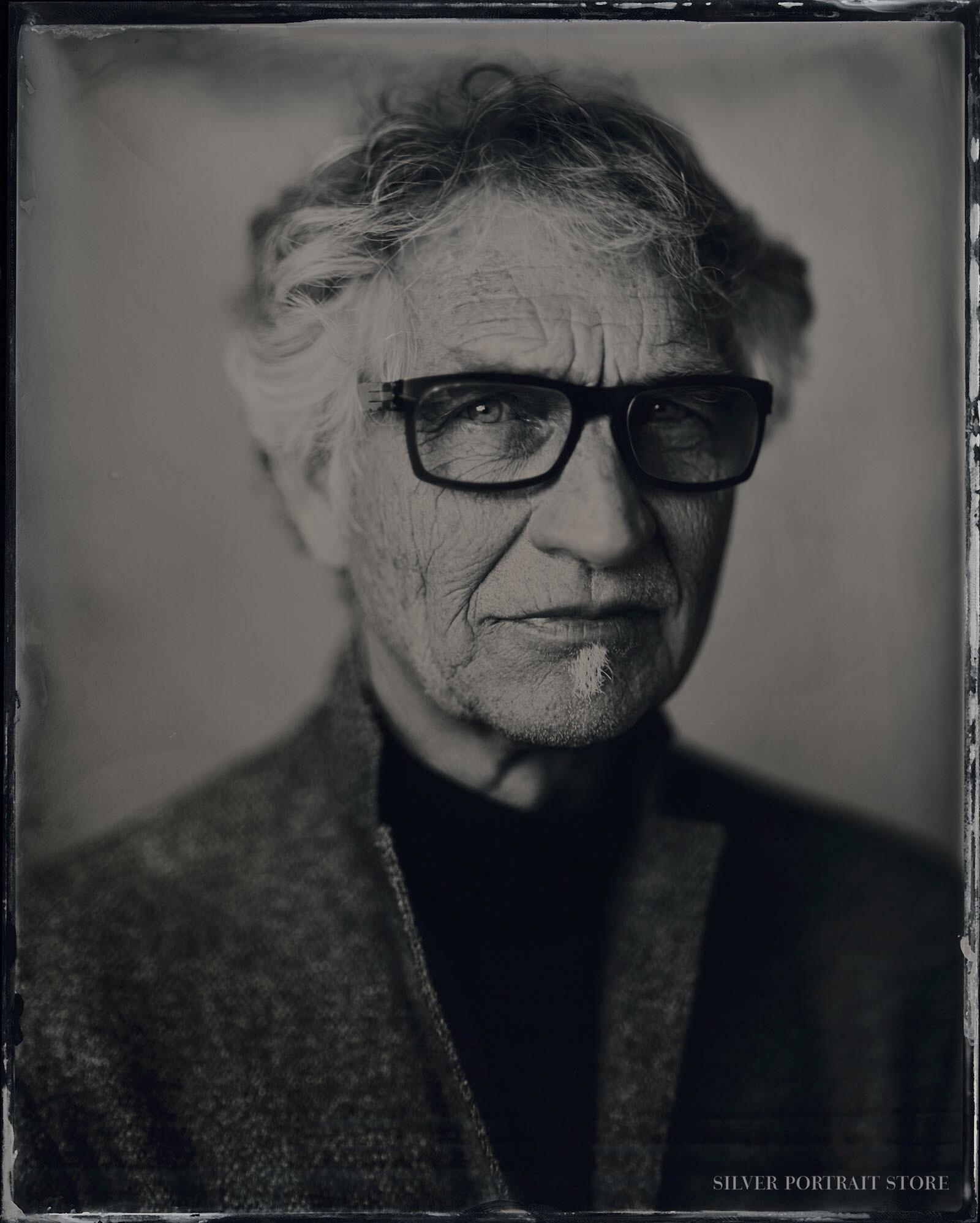 Gijs-Silver Portrait Store-Scan from Wet plate collodion-Tintype 20 x 25 cm. Lokatie PTA/Realisme Beurs.