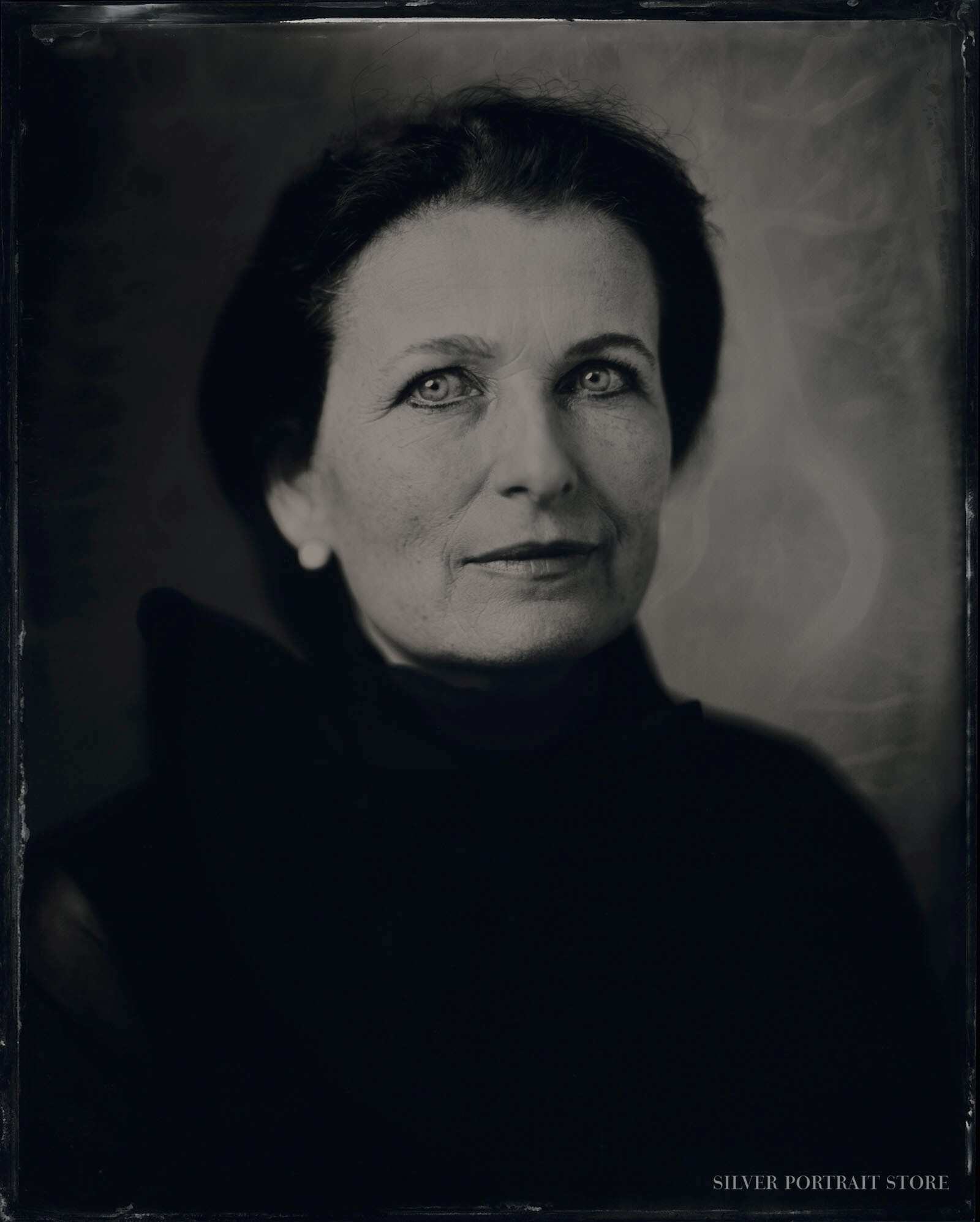 Julia Teves -Silver Portrait Store-Scan from Wet plate collodion-Tintype 20 x 25 cm.