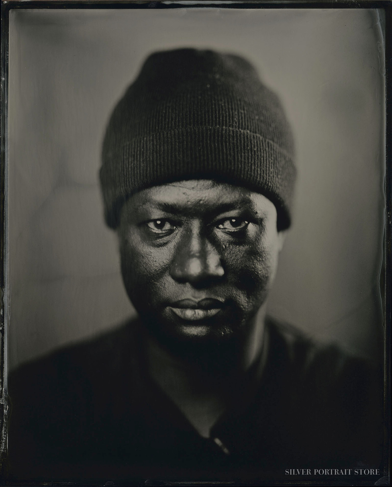 Bernard Akoi-Jackson-Artist-Silver Portrait Store-Scan from Wet plate collodion-Tintype.