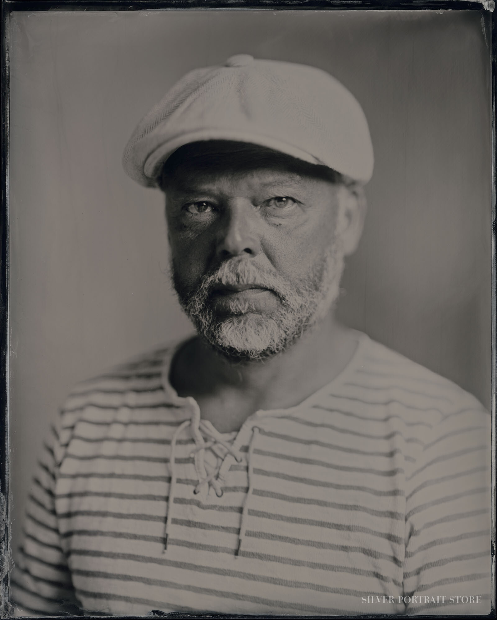 Willem Gast-Silver Portrait Store-Scan from Wet plate collodion-Tintype 20 x 25 cm.