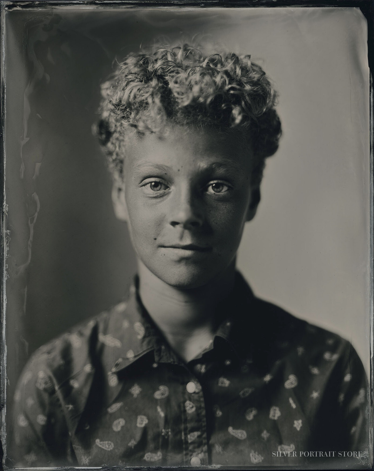 Ohle-Silver Portrait Store-Scan from Wet plate collodion-Tintype 20 x 25 cm