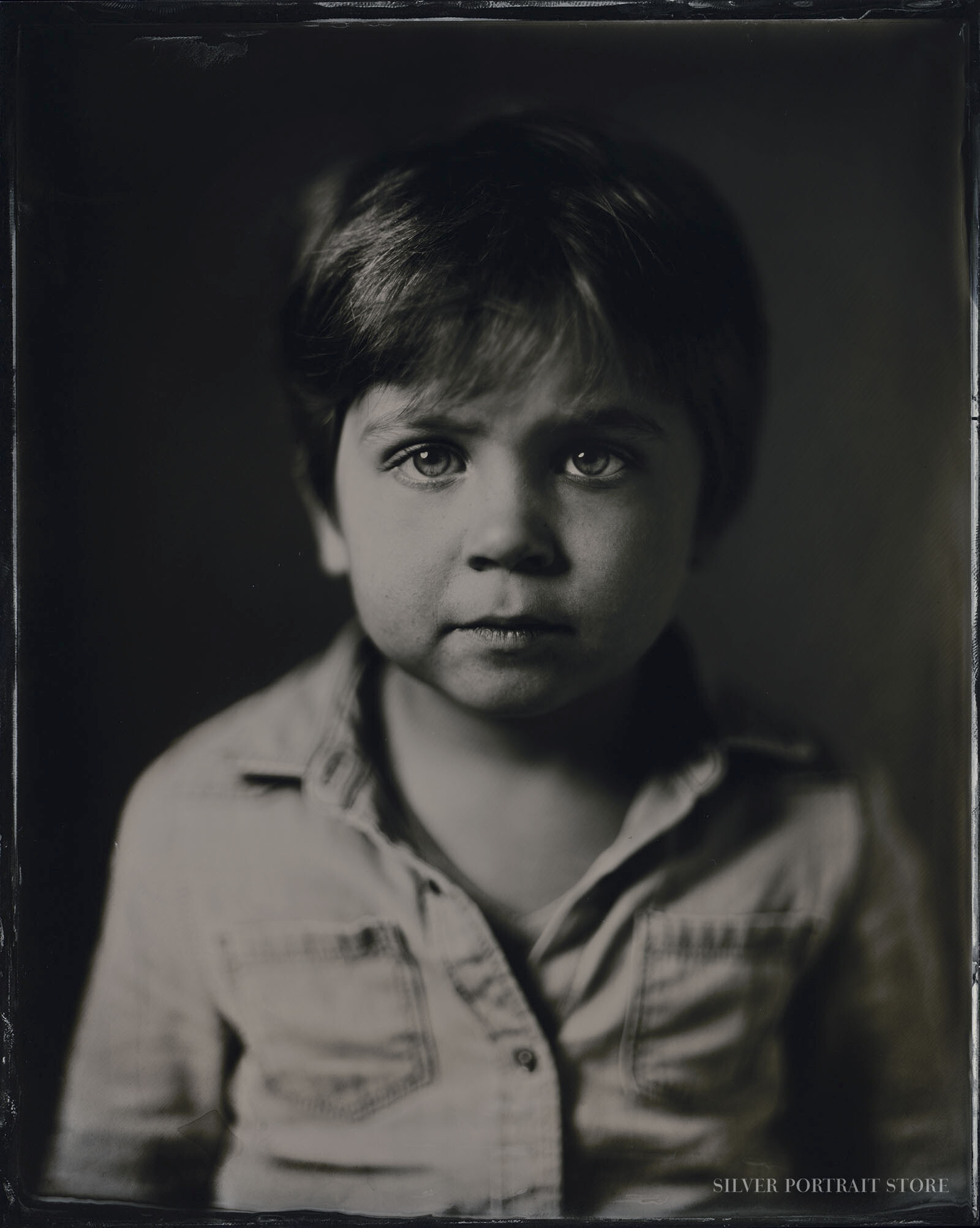 Mees-Silver Portrait Store-Scan from Wet plate collodion-Tintype 20 x 25 cm.