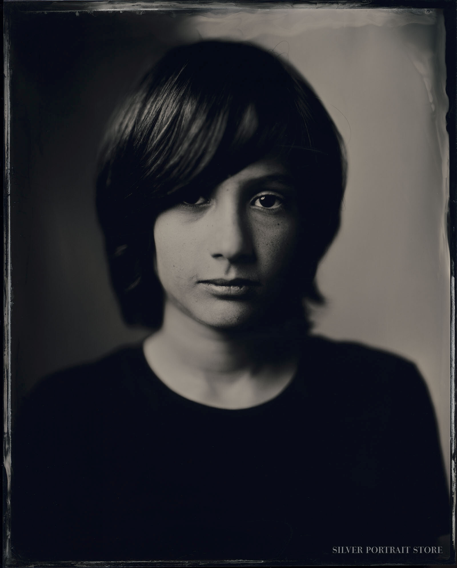 Piet-Silver Portrait Store-Scan from Wet plate collodion-Tintype 20 x 25 cm.