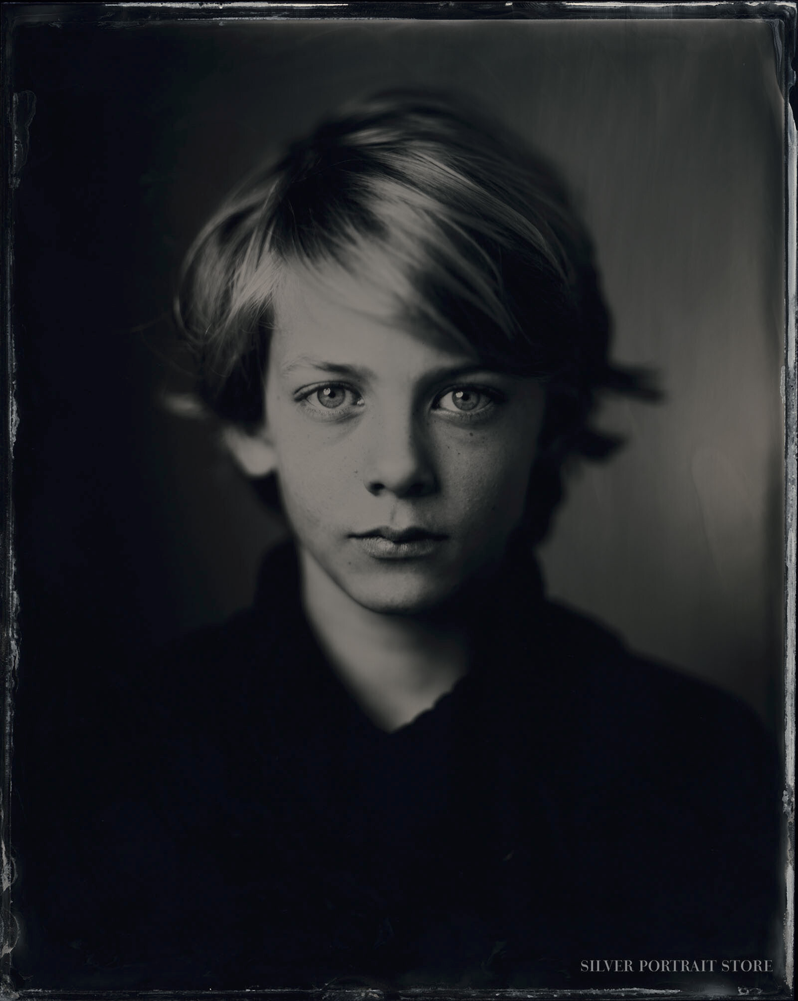 Pepijn-Silver Portrait Store-Scan from Wet plate collodion-Tintype 20 x 25 cm.