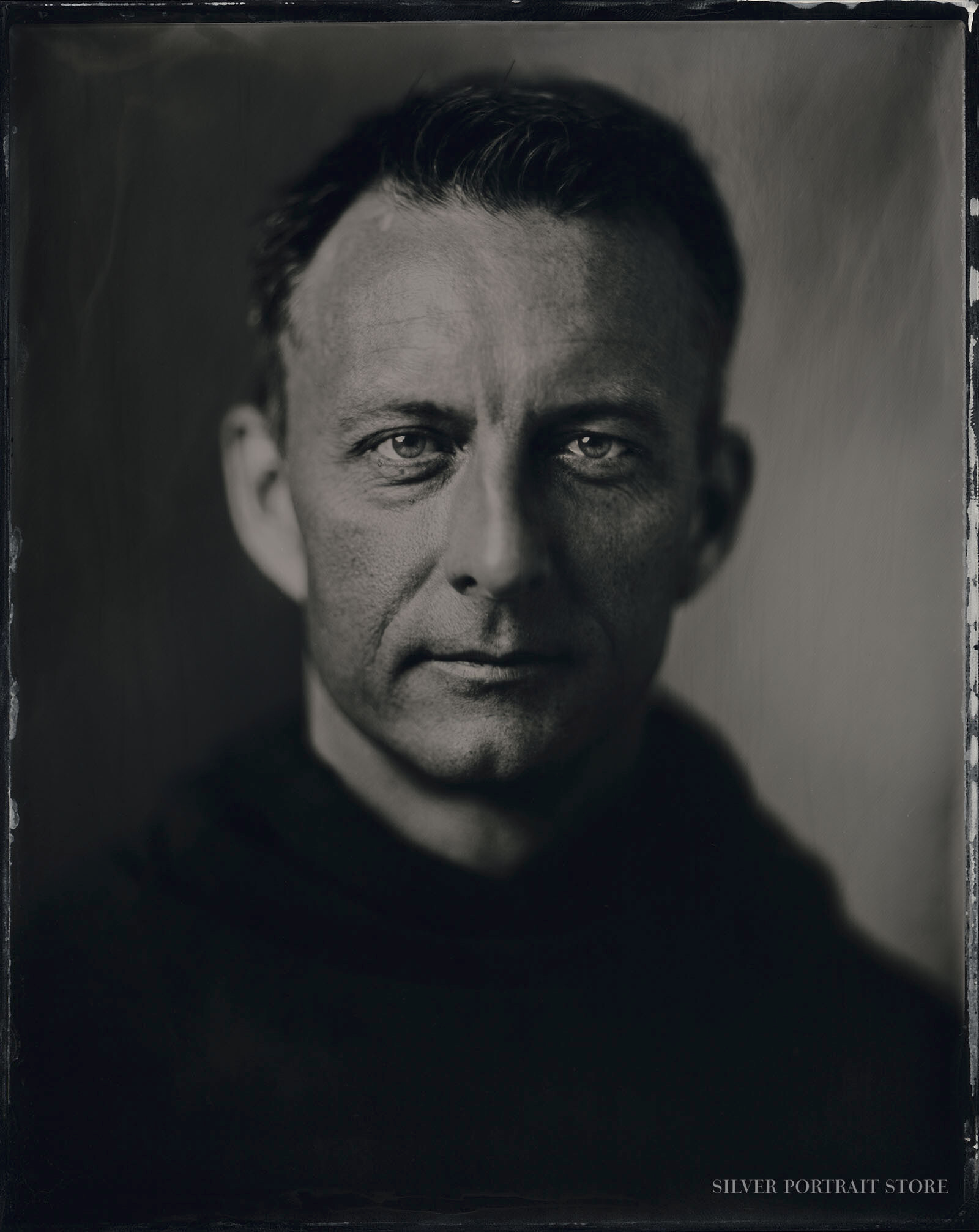 Trent-Silver Portrait Store-Scan from Wet plate collodion-Tintype 20 x 25 cm