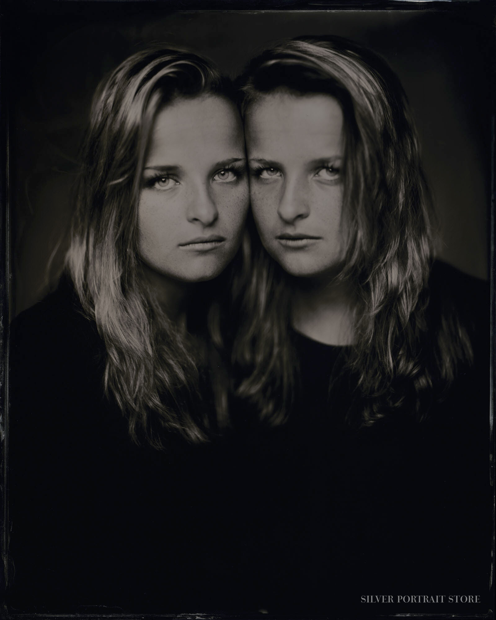 Kelly & Jaimy-Silver Portrait Store-Scan from Wet plate collodion-Tintype 20 x 25 cm