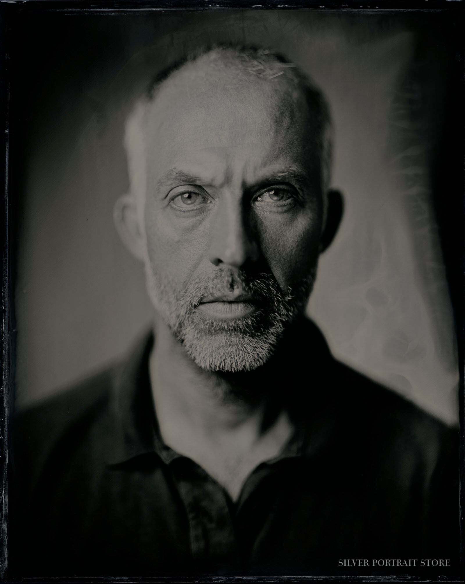 Cedric-Silver Portrait Store-Scan from Wet plate collodion-Tintype 20 x 25 cm