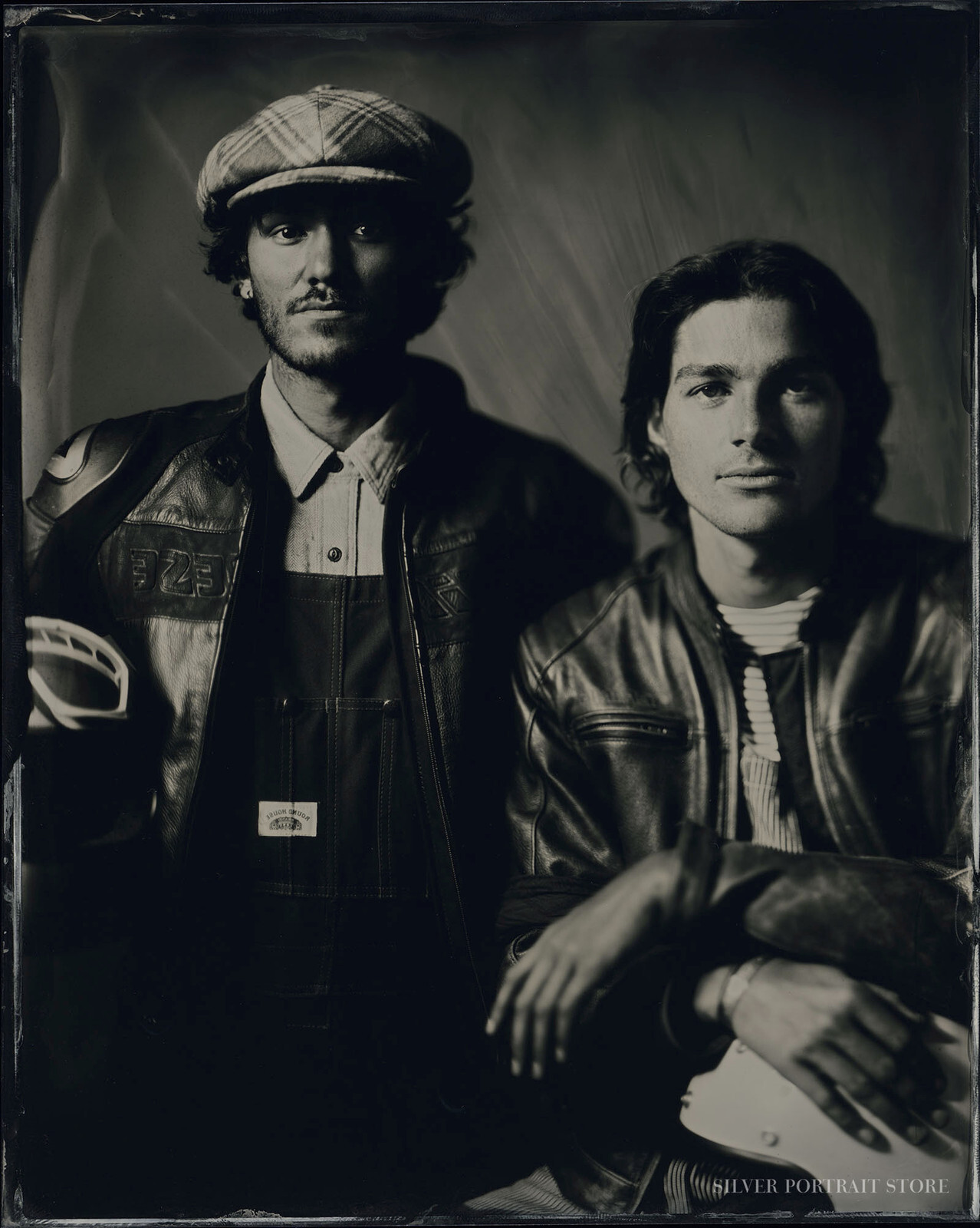 Fraser & Jack - Silver Portrait Store-Scan from Wet plate collodion-Tintype 20 x 25 cm