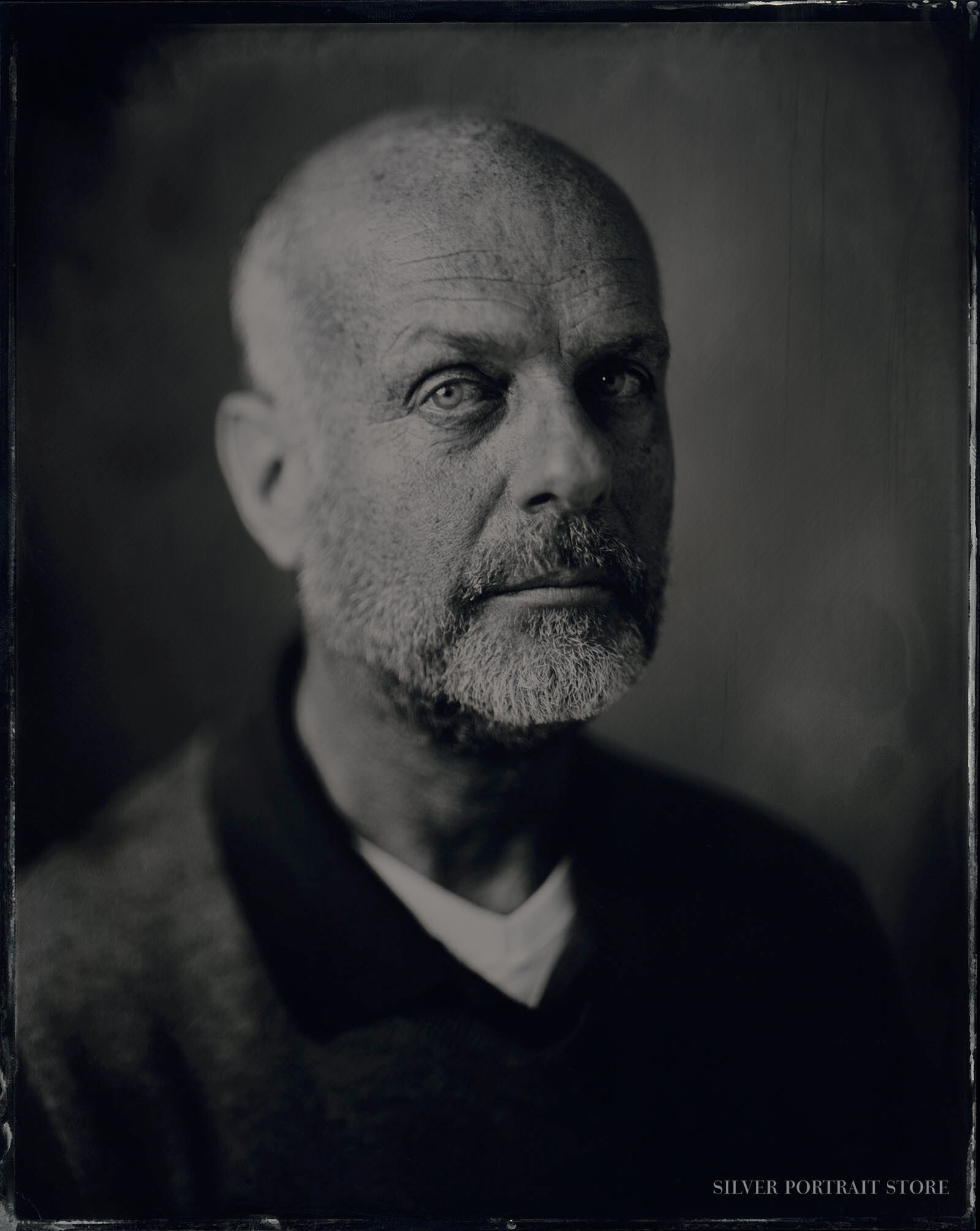 Martien-Silver Portrait Store-Scan from Wet plate collodion-Tintype 20 x 25 cm