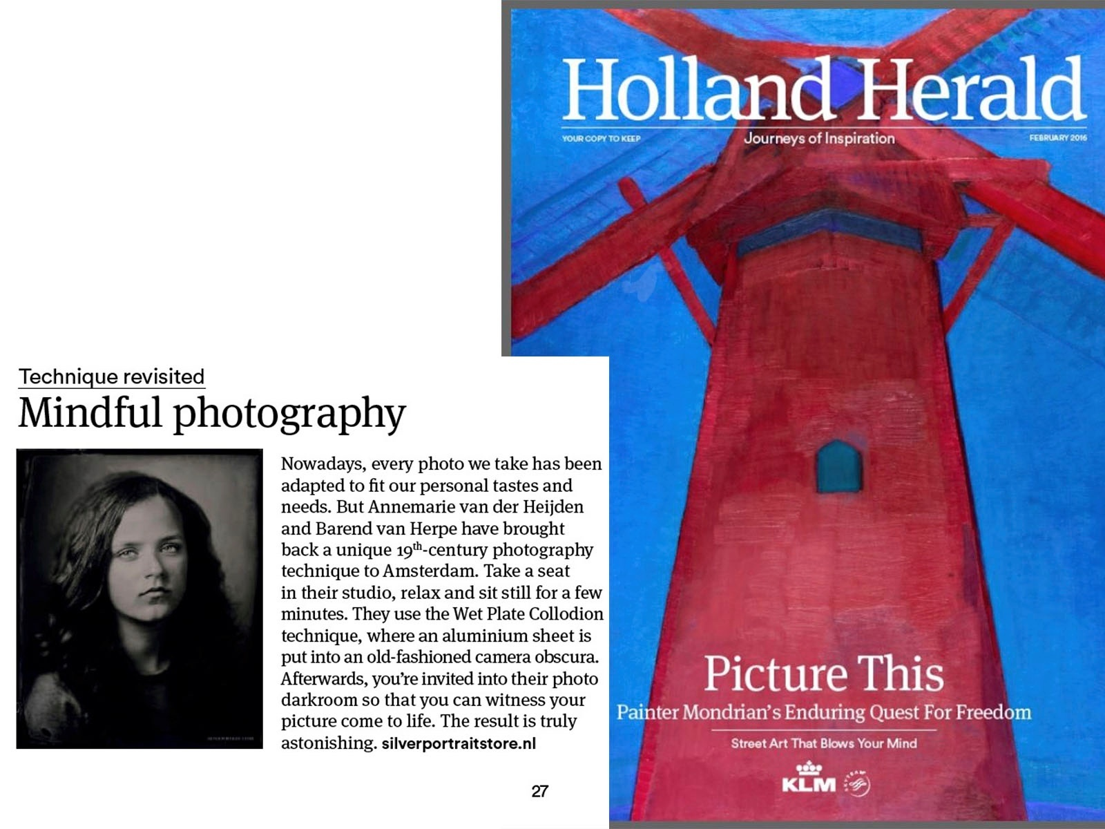 Holland Herald Magazine - Mindful photography.