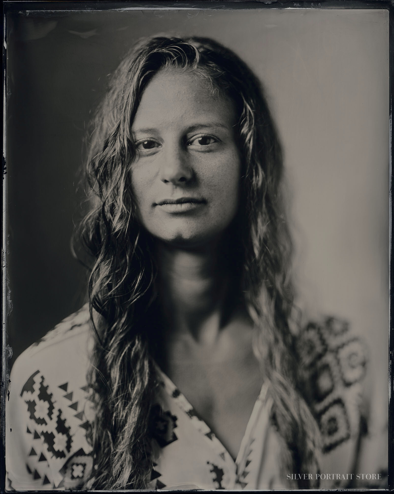 Anin-Silver Portrait Store-scan from Wet plate collodion-Tintype 20 x 25 cm