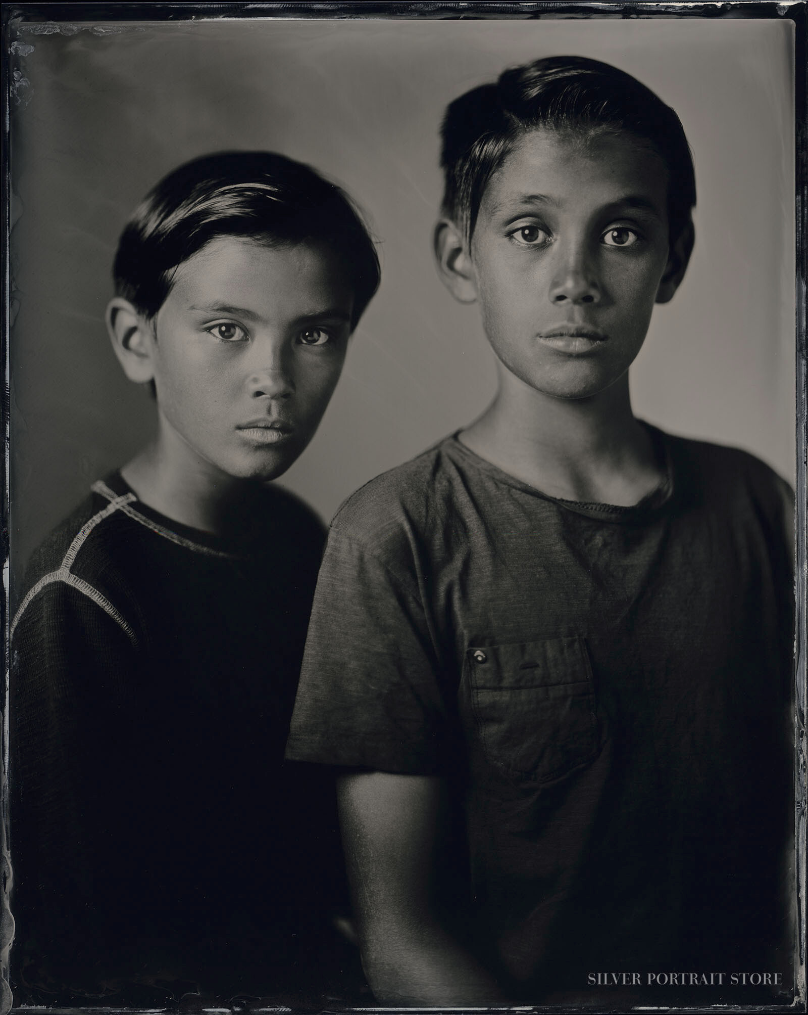 Diego & Santino-Silver Portrait Store-Scan from Wet plate collodion-Tintype 20 x 25 cm.