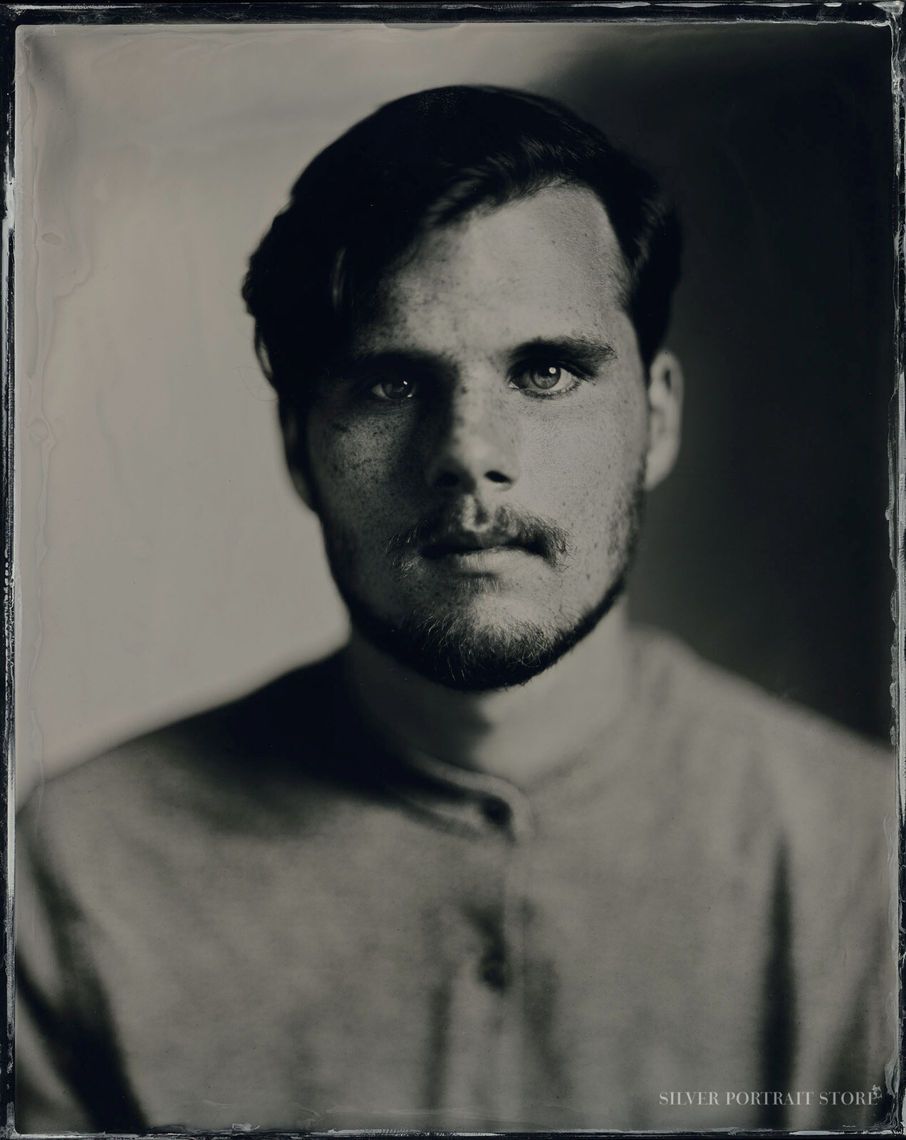 Max-Silver Portrait Store-Scan from Wet plate collodion-Tintype 20 x 25 cm