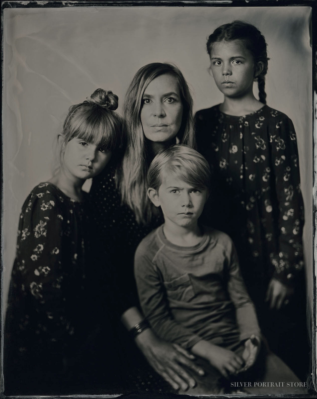 Badass Family-Silver Portrait Store-Scan from Wet plate collodion-Tintype 20 x 25 cm