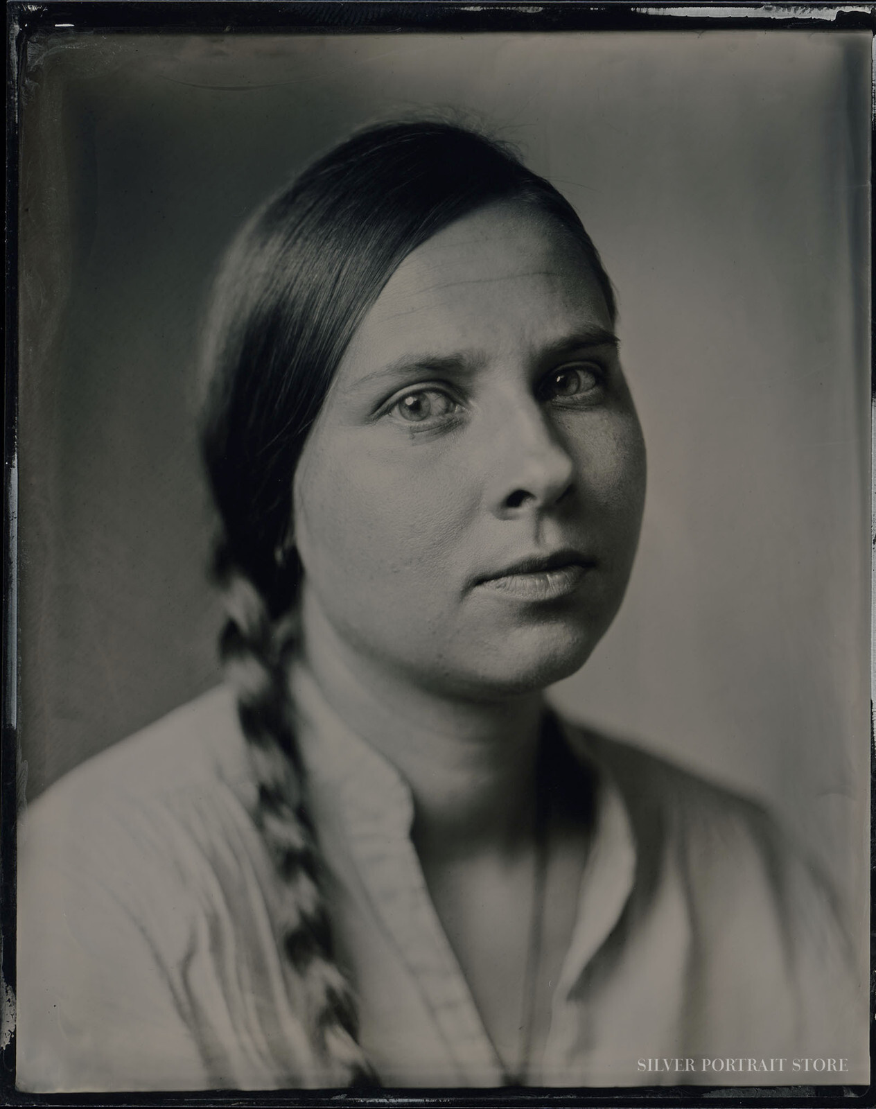 Anna-Silver Portrait Store-scan from Wet plate collodion-Tintype 10 x 12 cm.
