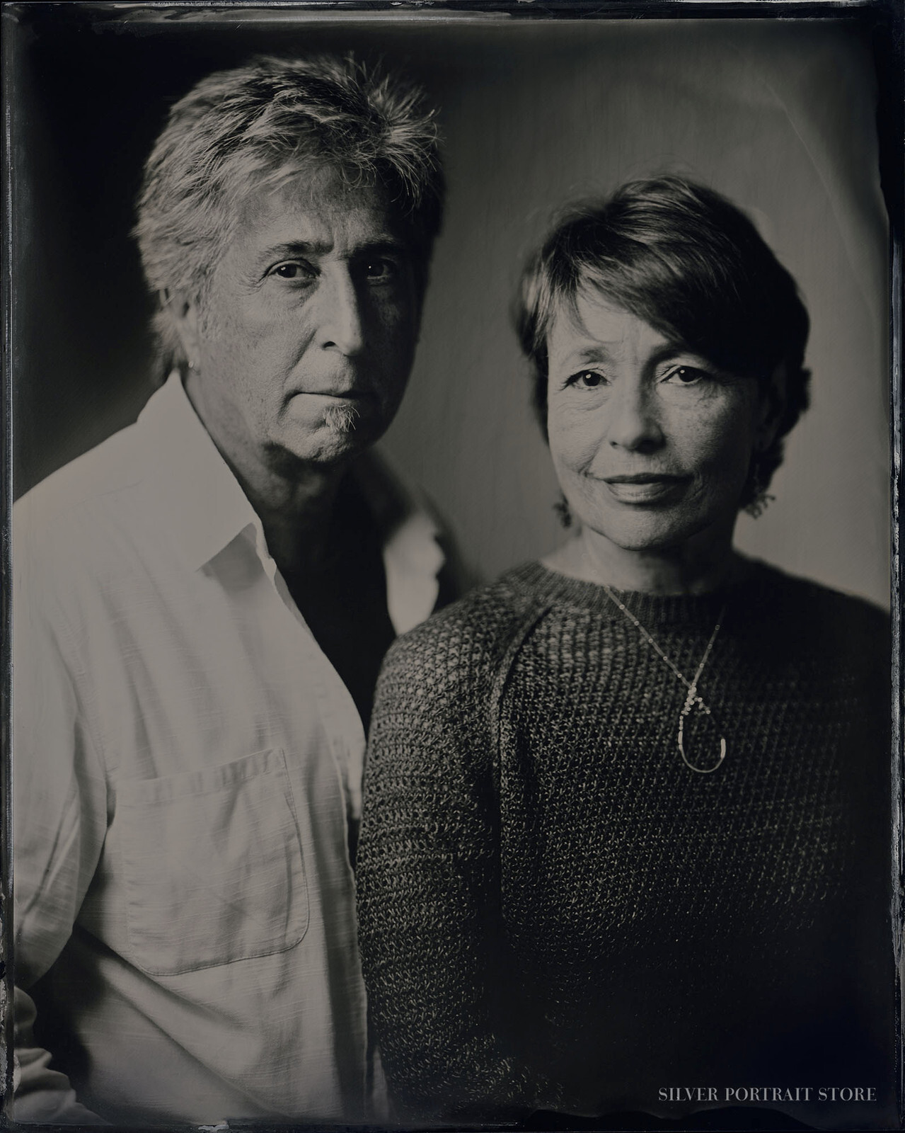 Janet & Patrick-Silver Portrait Store-Wet plate collodion-Tintype 20 x 25cm.