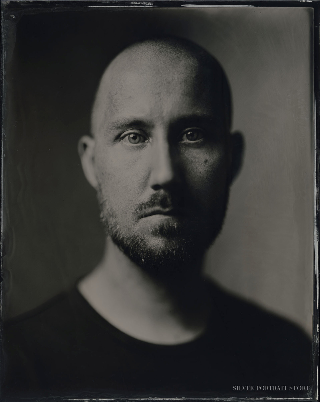Andreas-Silver Portrait Store-scan from Wet plate collodion-Tintype 20 x 25 cm.