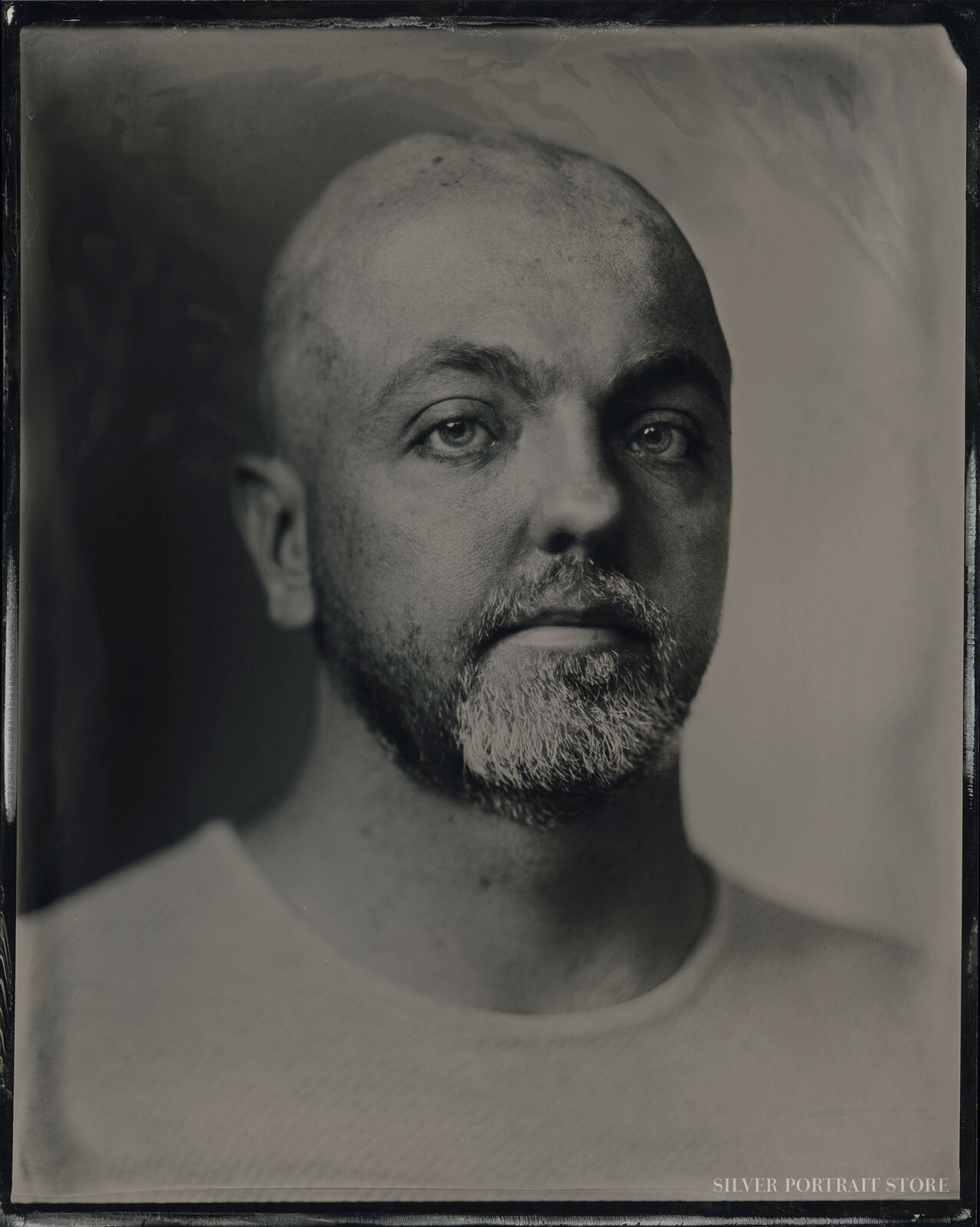 Floris-Silver Portrait Store-scan from Wet plate collodion-Tintype10 x 12 cm.