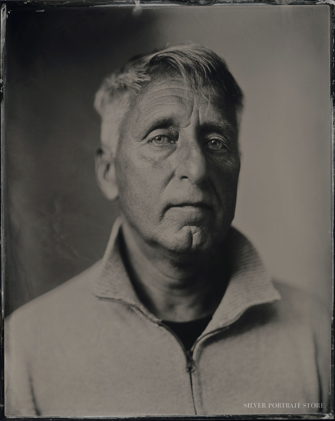 Stag-Silver Portrait Store-Wet plate collodion-Tintype 20 x 25 cm.