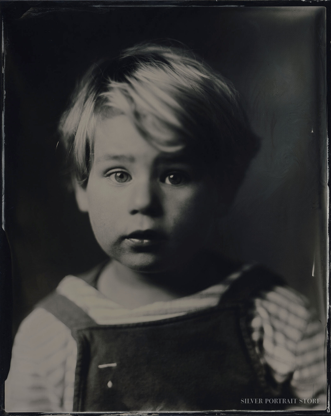 Hugo-Silver Portrait Store-scan from Wet plate collodion-Tintype 20 x 25 cm.