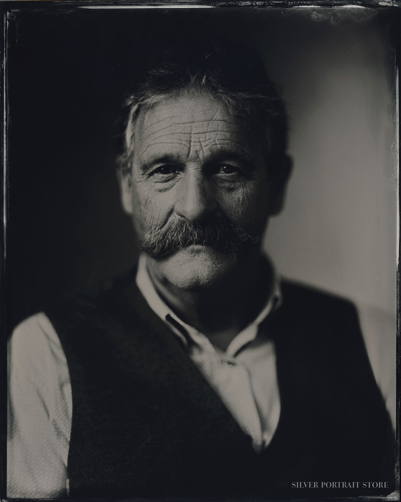 Cees-Silver Portrait Store-Wet plate collodion-Tintype 20 x 25 cm.