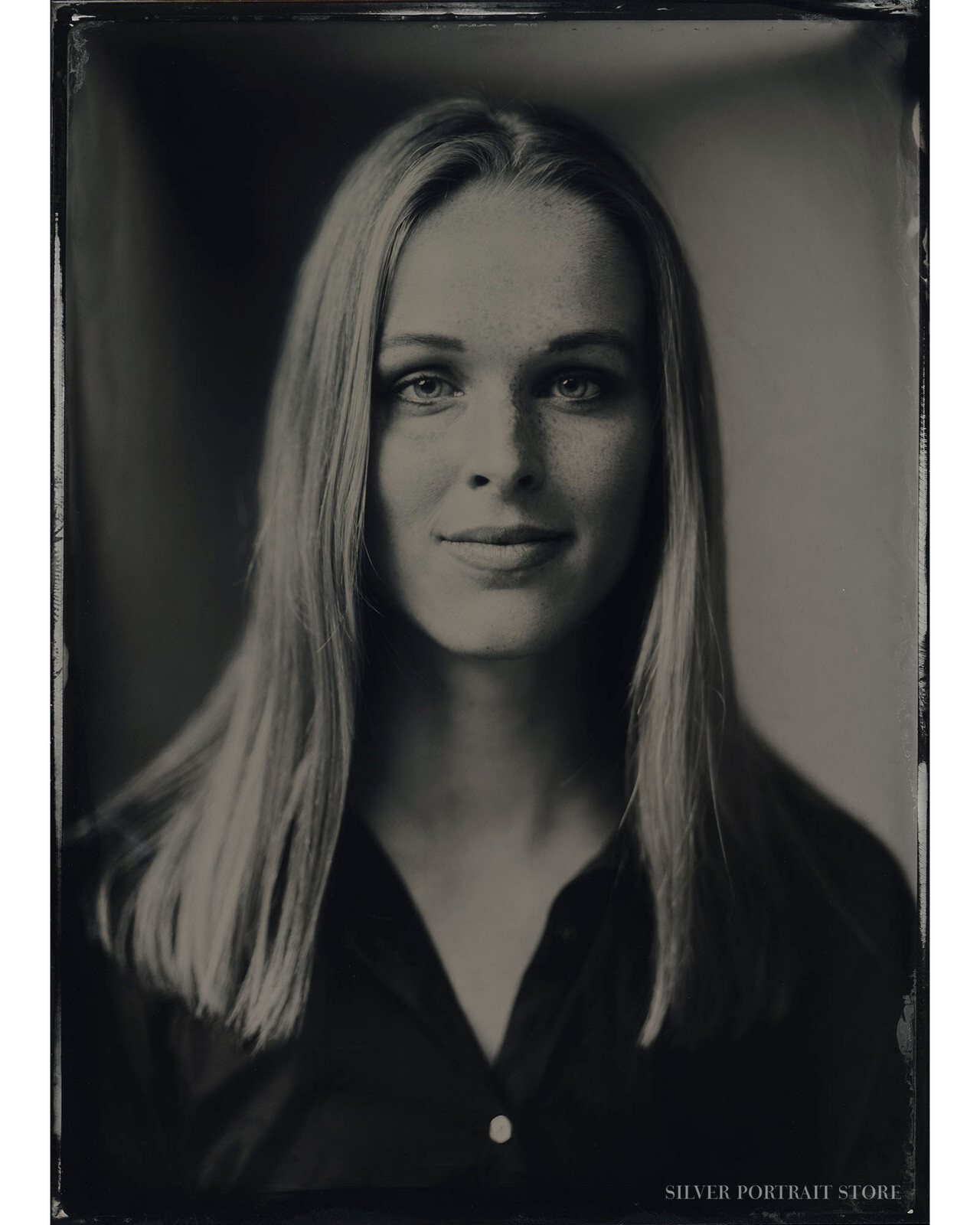 Pien-Silver Portrait Store-scan from Wet plate collodion-Tintype 13 x 18 cm.
