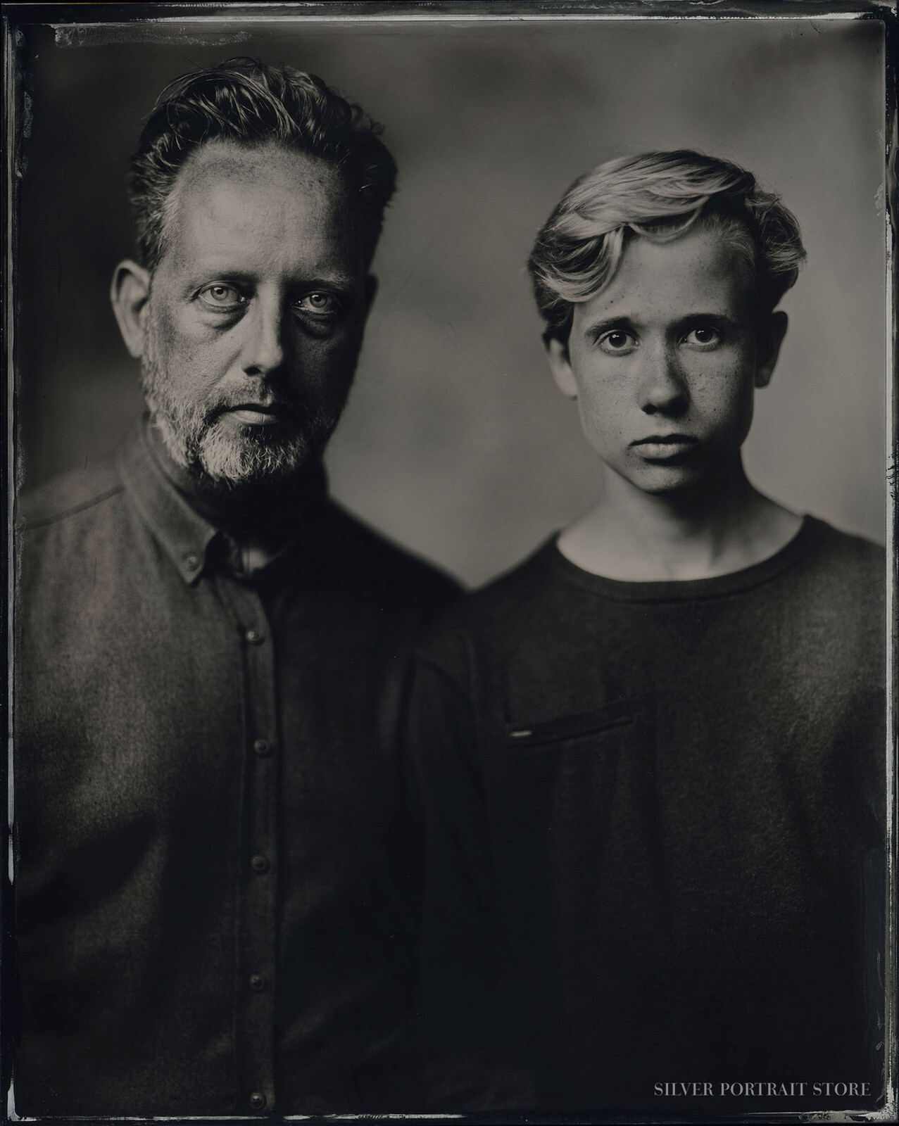 Thierry & Govert-Silver Portrait Store-scan from Wet plate collodion-Tintype 20 x 25 cm.