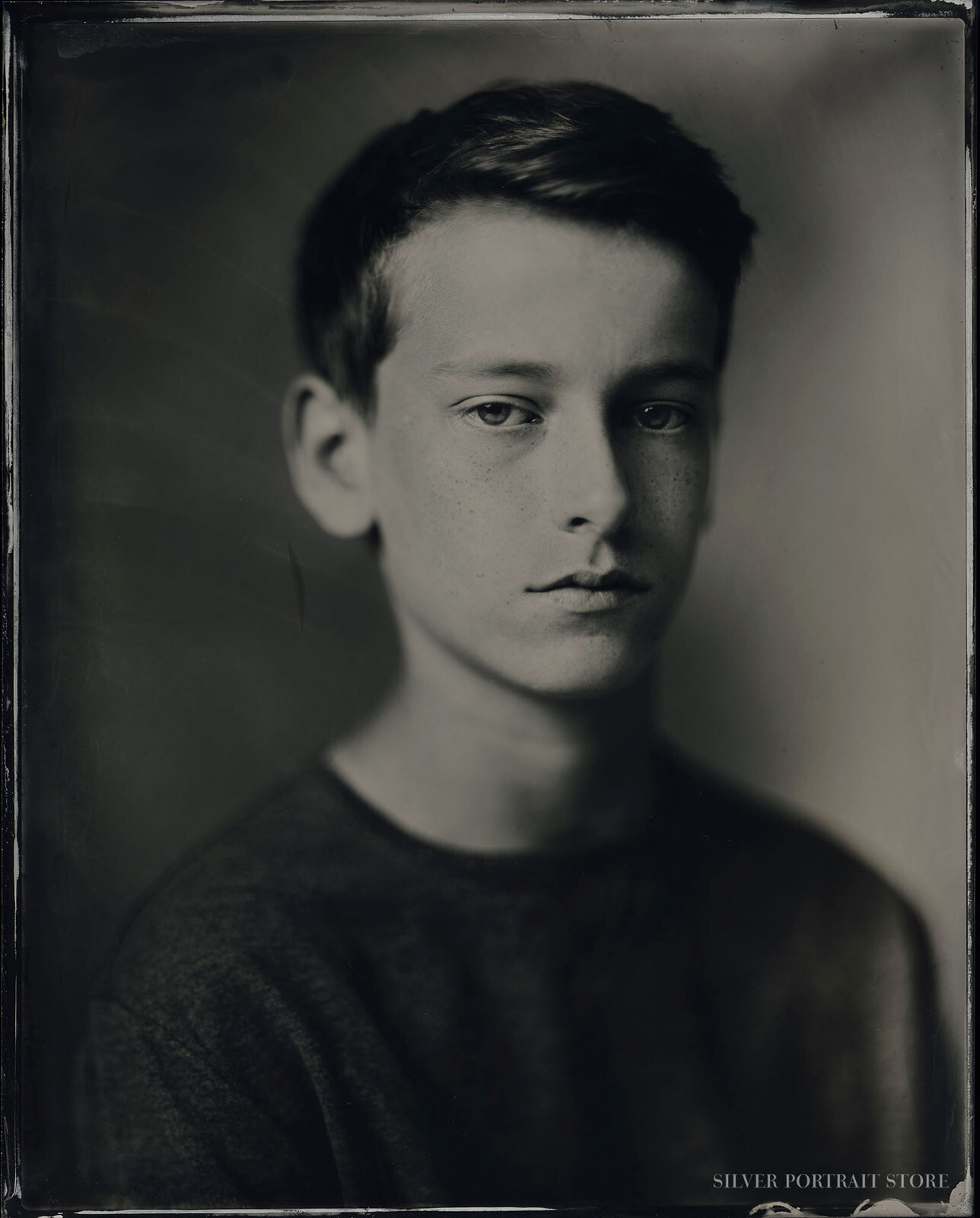 Finn-Silver Portrait Store-scan from Wet plate collodion-Tintype 20 x 25 cm.