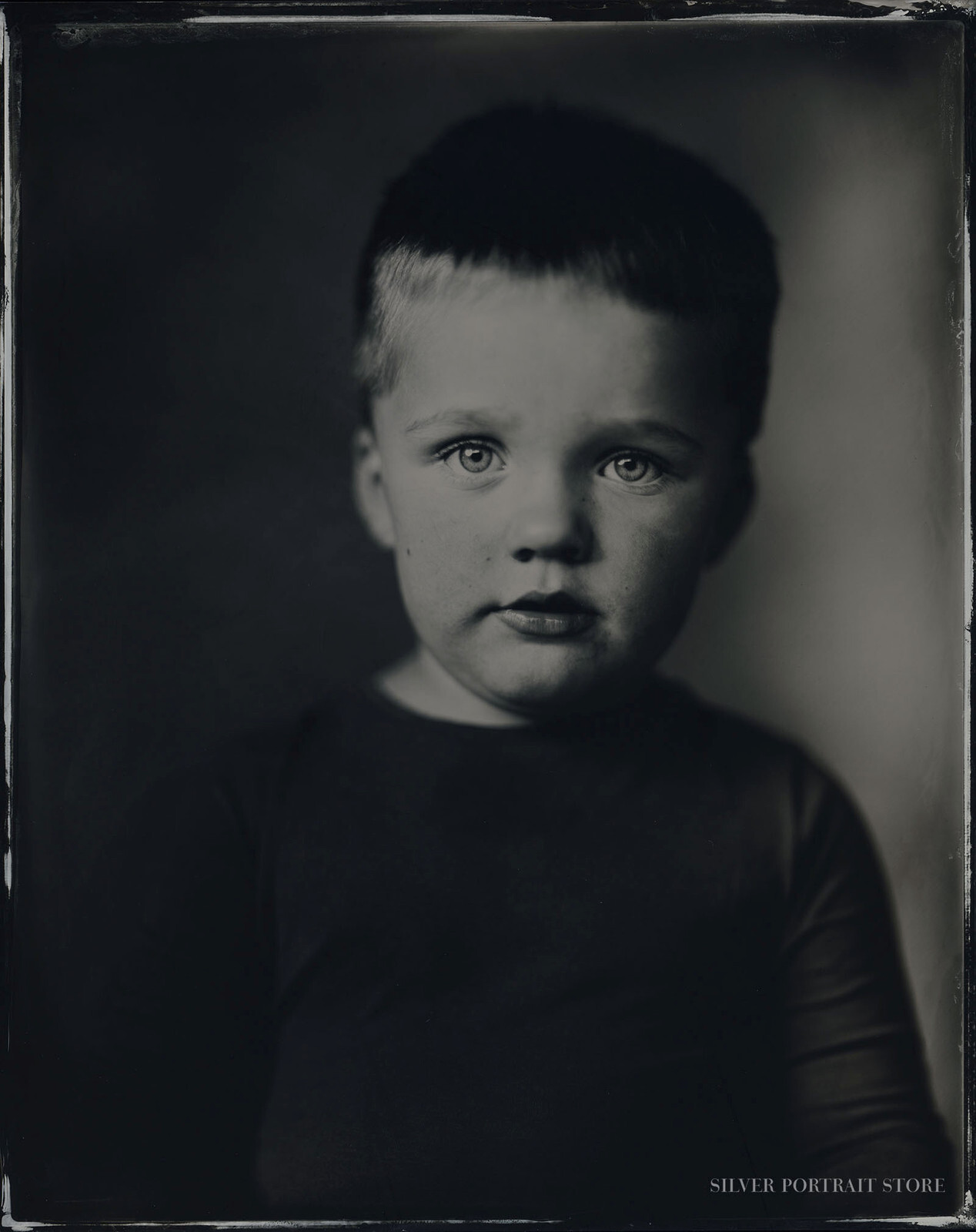 Ysbrand-Silver Portrait Store-Wet plate collodion-Tintype 20 x 25 cm.