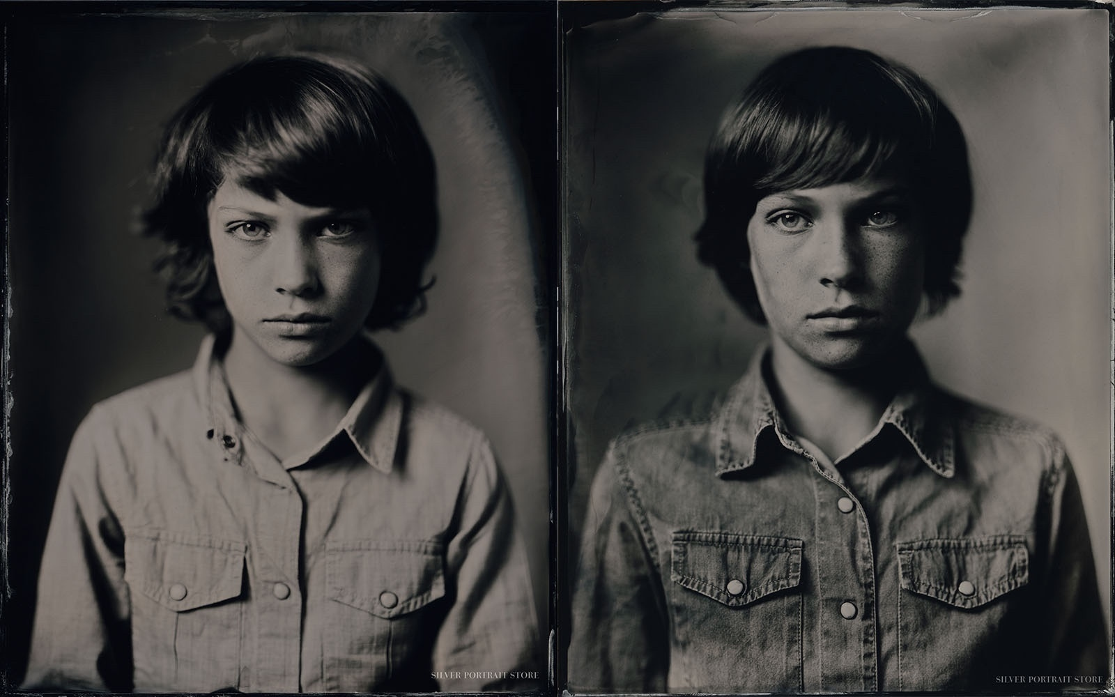 After 3 years Henry and his family from Switzerland came along for his second Silver Portrait Tintype Session