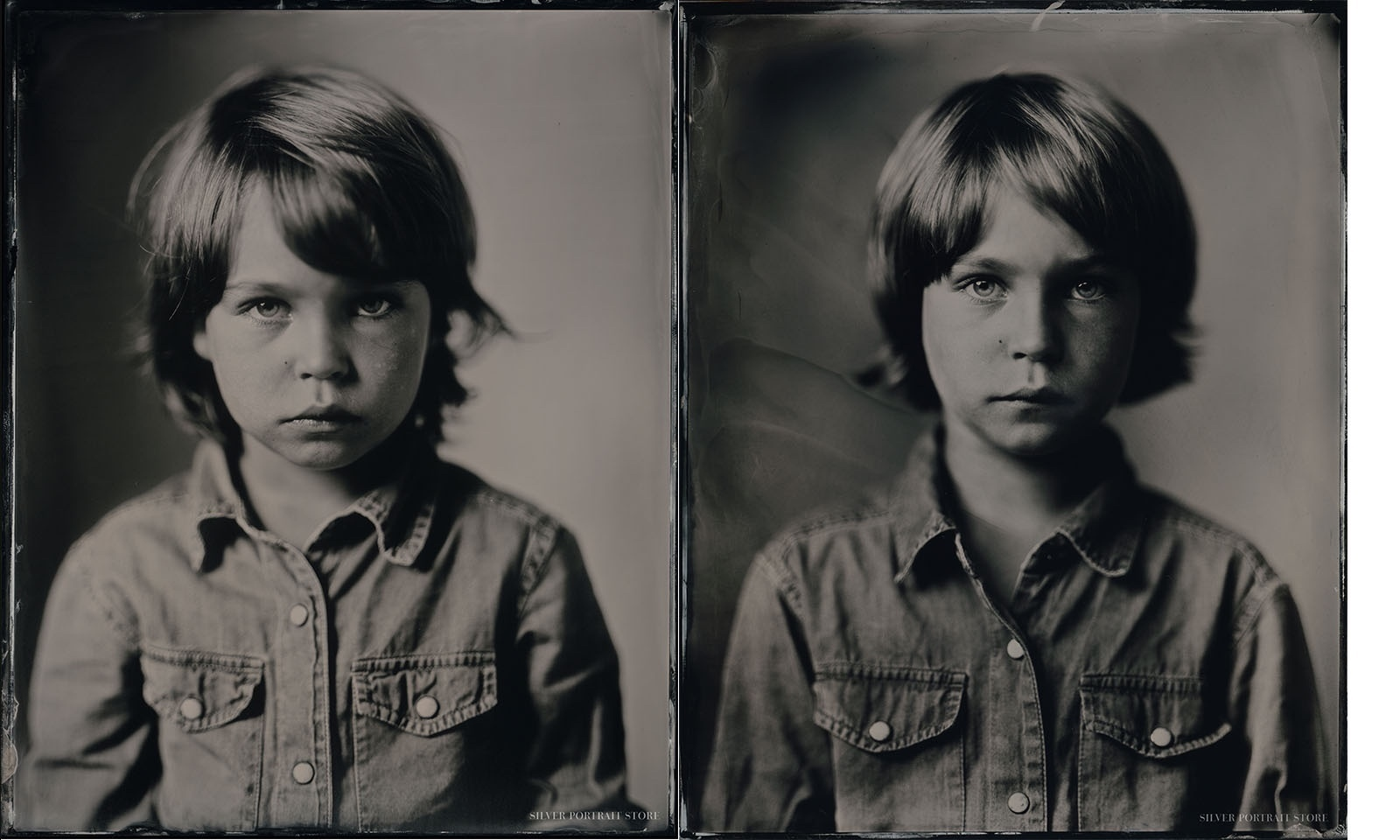 After 2 years Vincent and his family from Switzerland came along for his second Silver Portrait Tintype session.