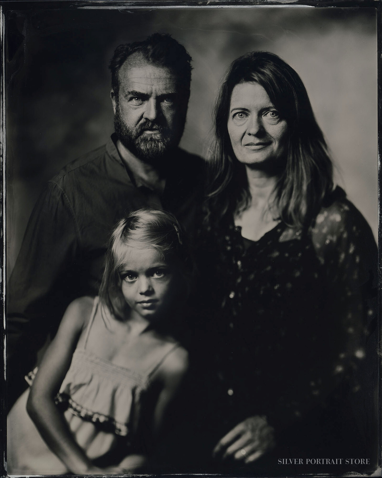 Alex, Julia & Kira-scan from Silver Portrait Store-Wet plate collodion-Tintype 20 x 25 cm.