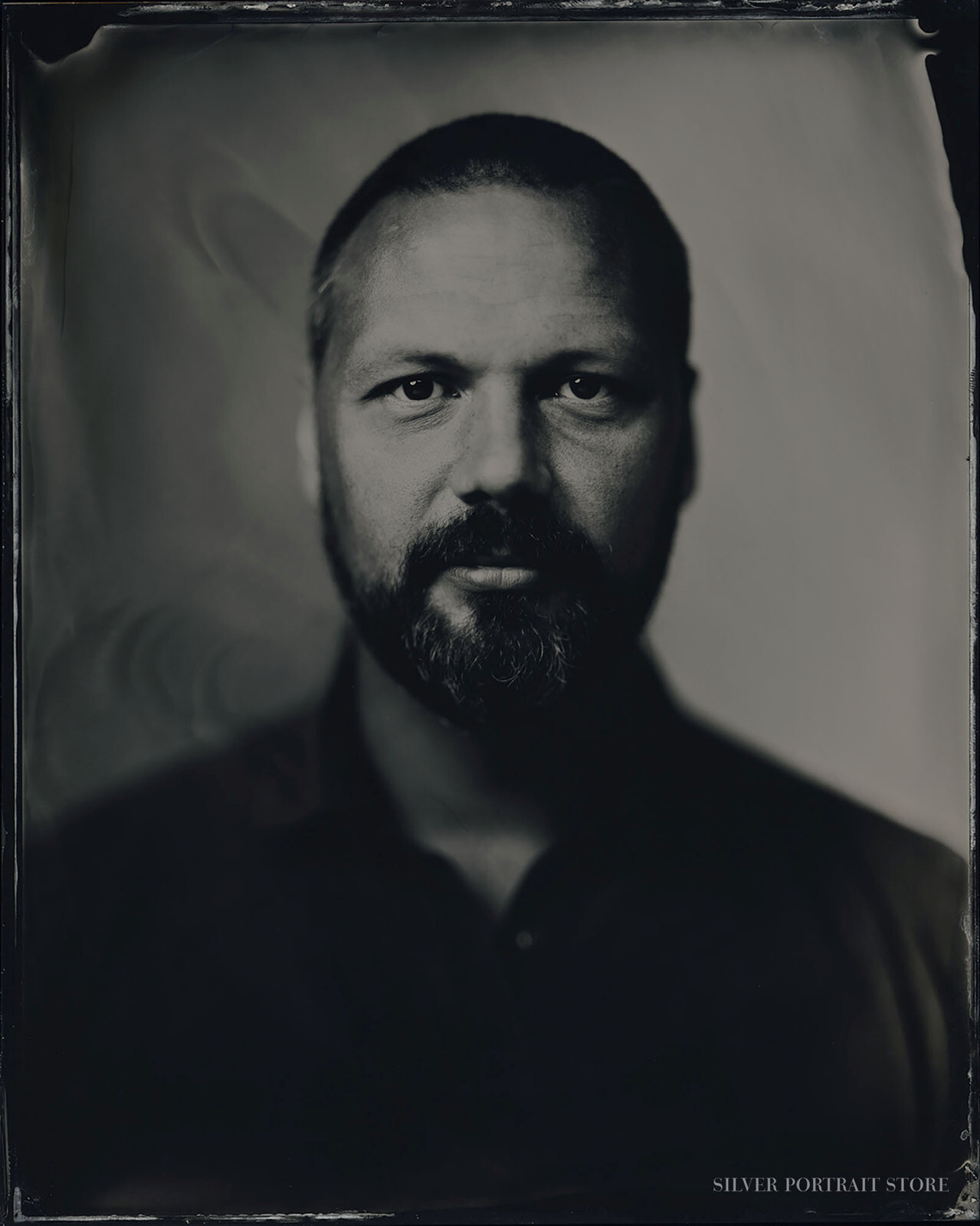 Willem-Silver Portrait Store-scan from Wet plate collodion-Tintype 20 x 25 cm.