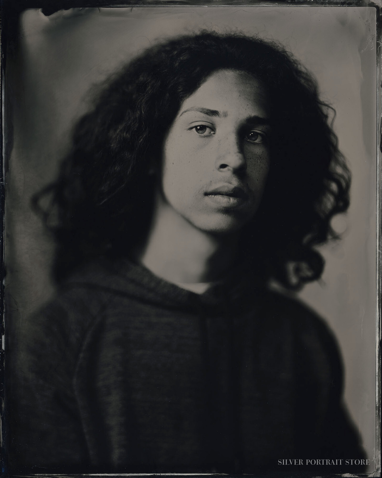 David-Silver Portrait Store-Wet plate collodion-Tintype 20 x 25 cm.