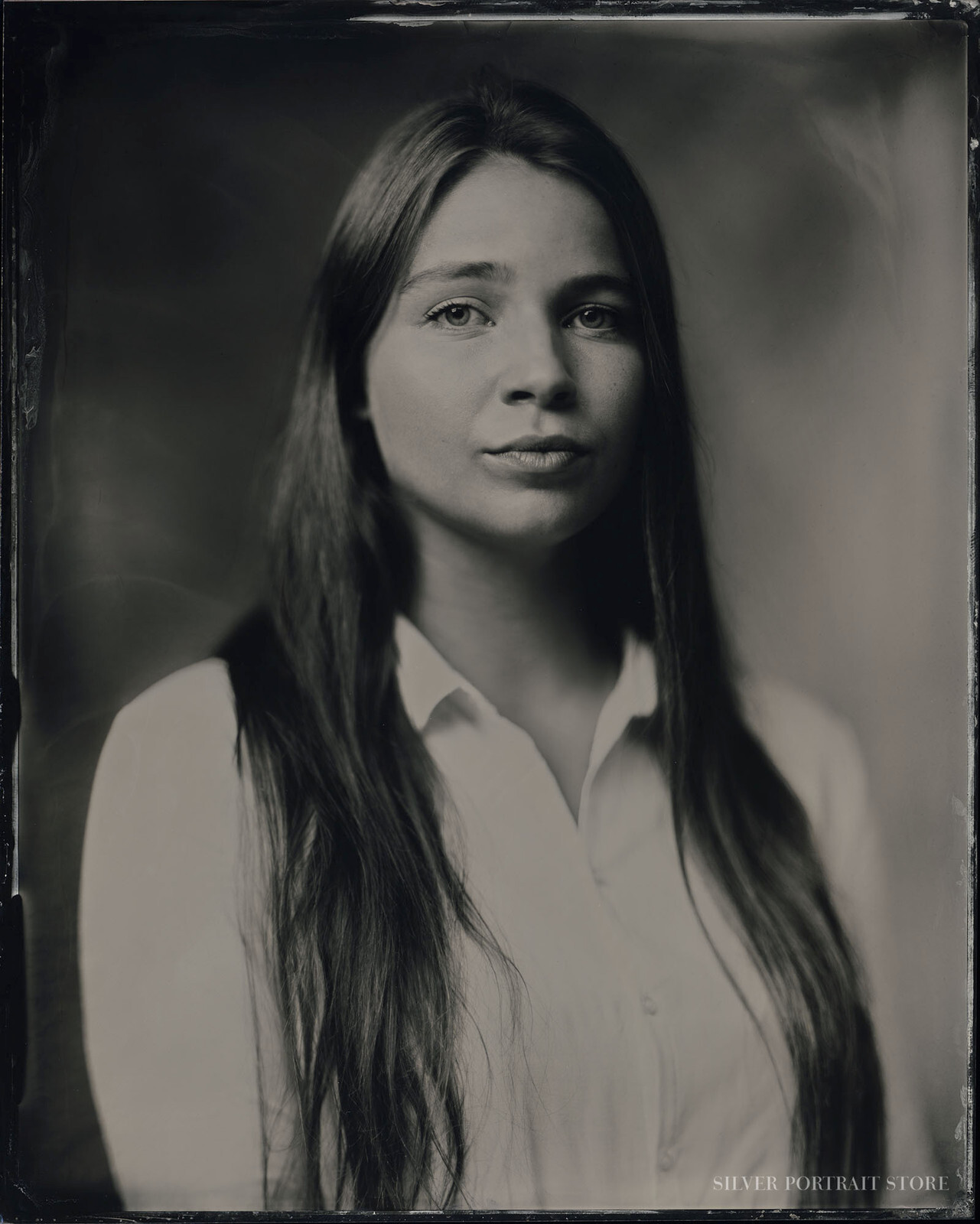 Sophie-Silver Portrait Store-scan from Wet plate collodion-Tintype 20 x 25 cm.