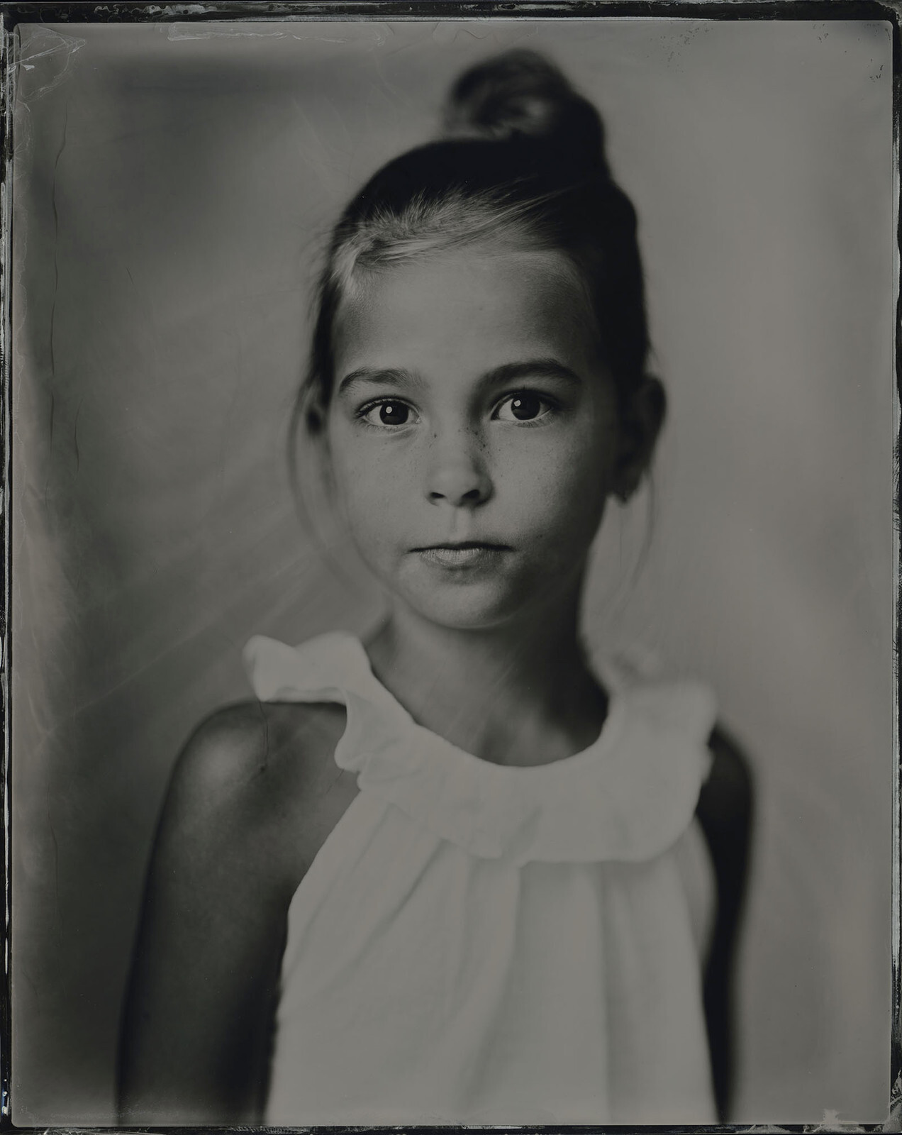 Lotta-Silver Portrait Store-Wet plate collodion-Tintype 20 x 25 cm.