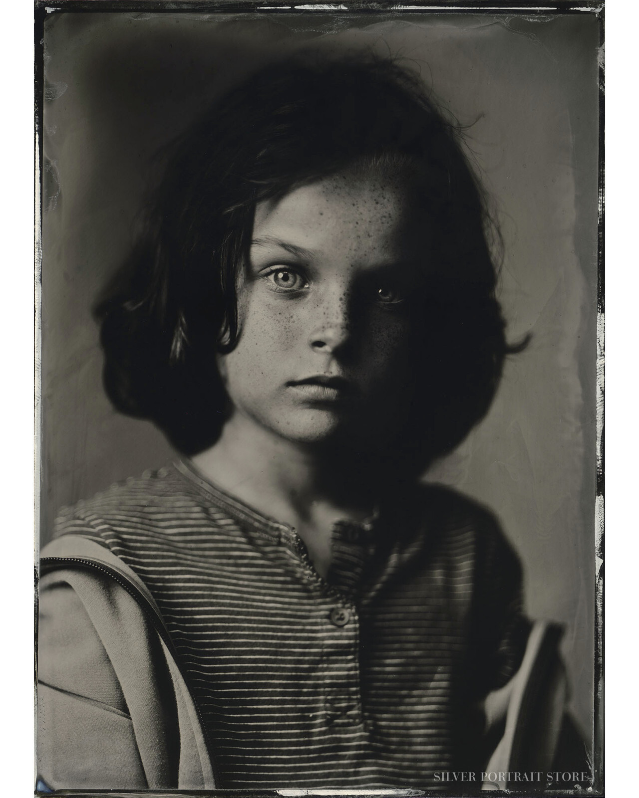 Mika-Silver Portrait Store-Wet plate collodion-Tintype 13 x 18 cm.