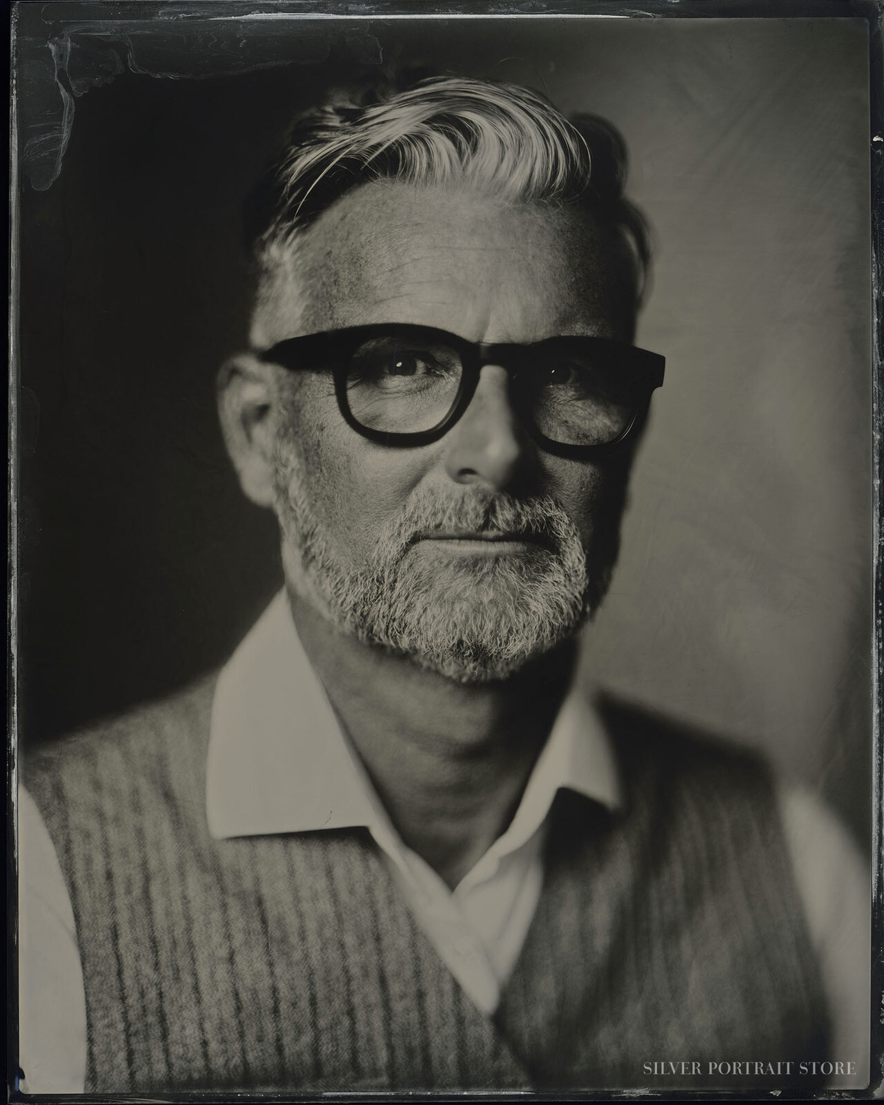 Marc-Silver Portrait Store-Wet plate collodion-Tintype 20 x 25 cm.